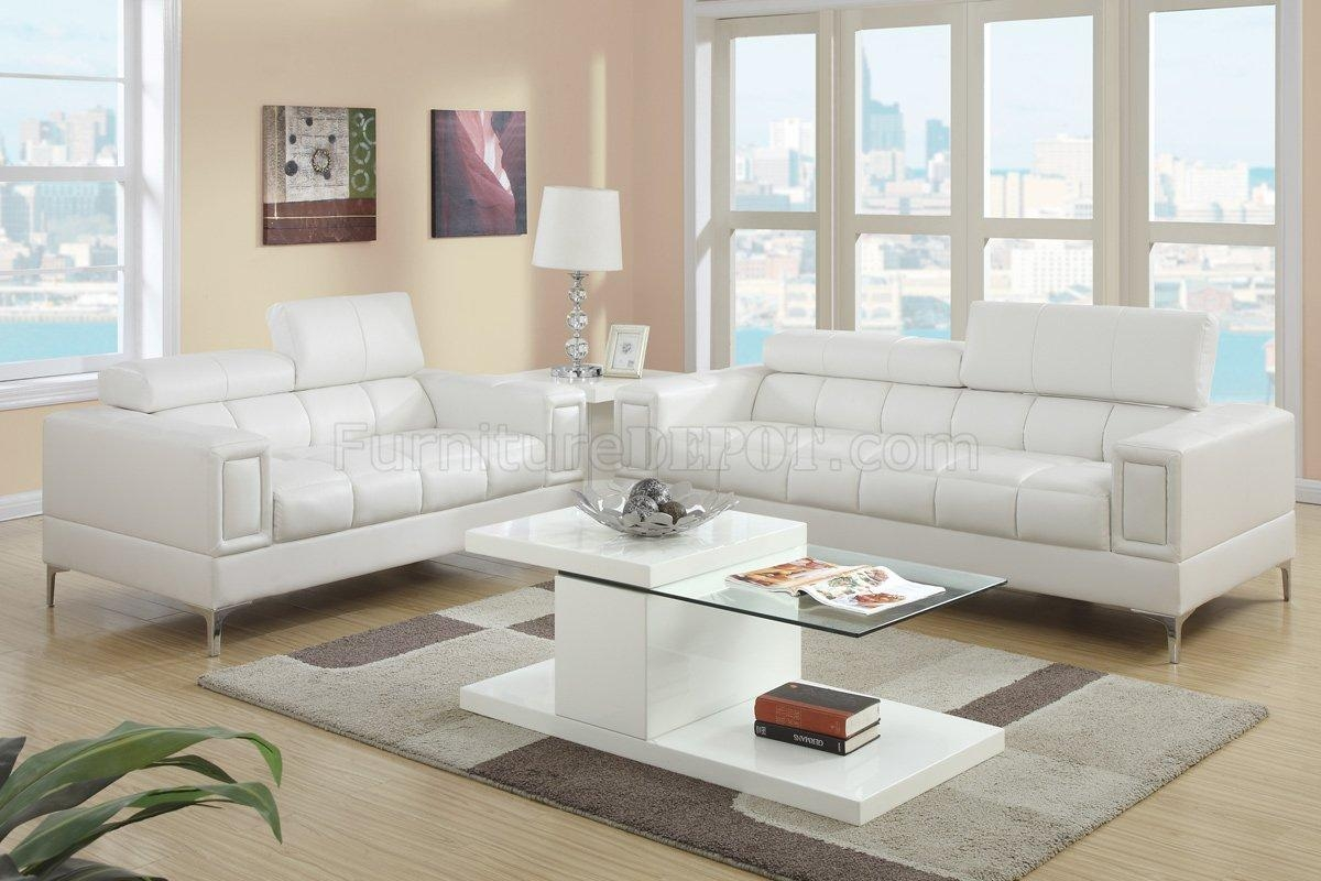 Leather Living Room Sets Pertaining To Off White Leather Sofa And Loveseat (View 5 of 20)