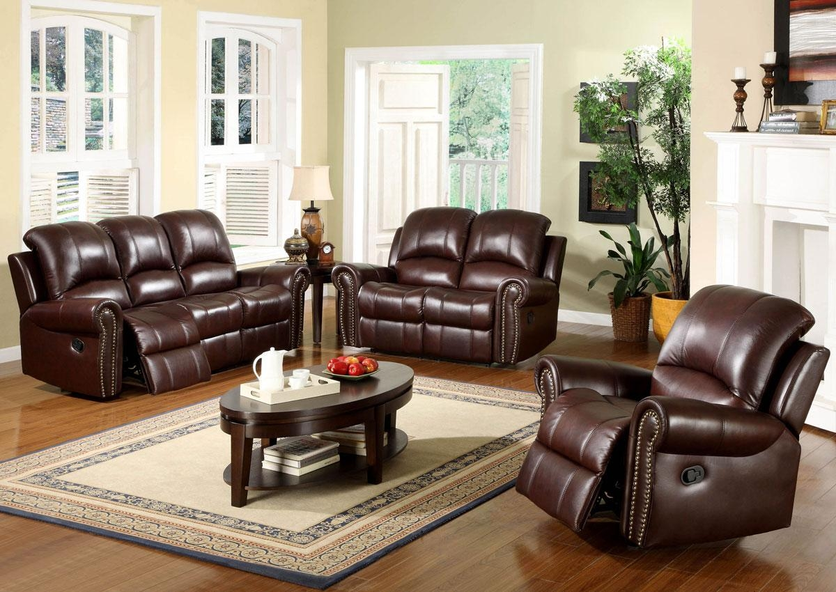 Leather Recliner Sofa Sets And Modern Burgundy Leather Reclining For Burgundy Leather Sofa Sets (View 14 of 20)