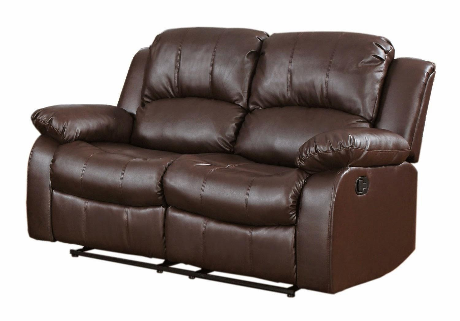 Leather Reclining Sofa For 2 Seater Recliner Leather Sofas (Image 9 of 20)