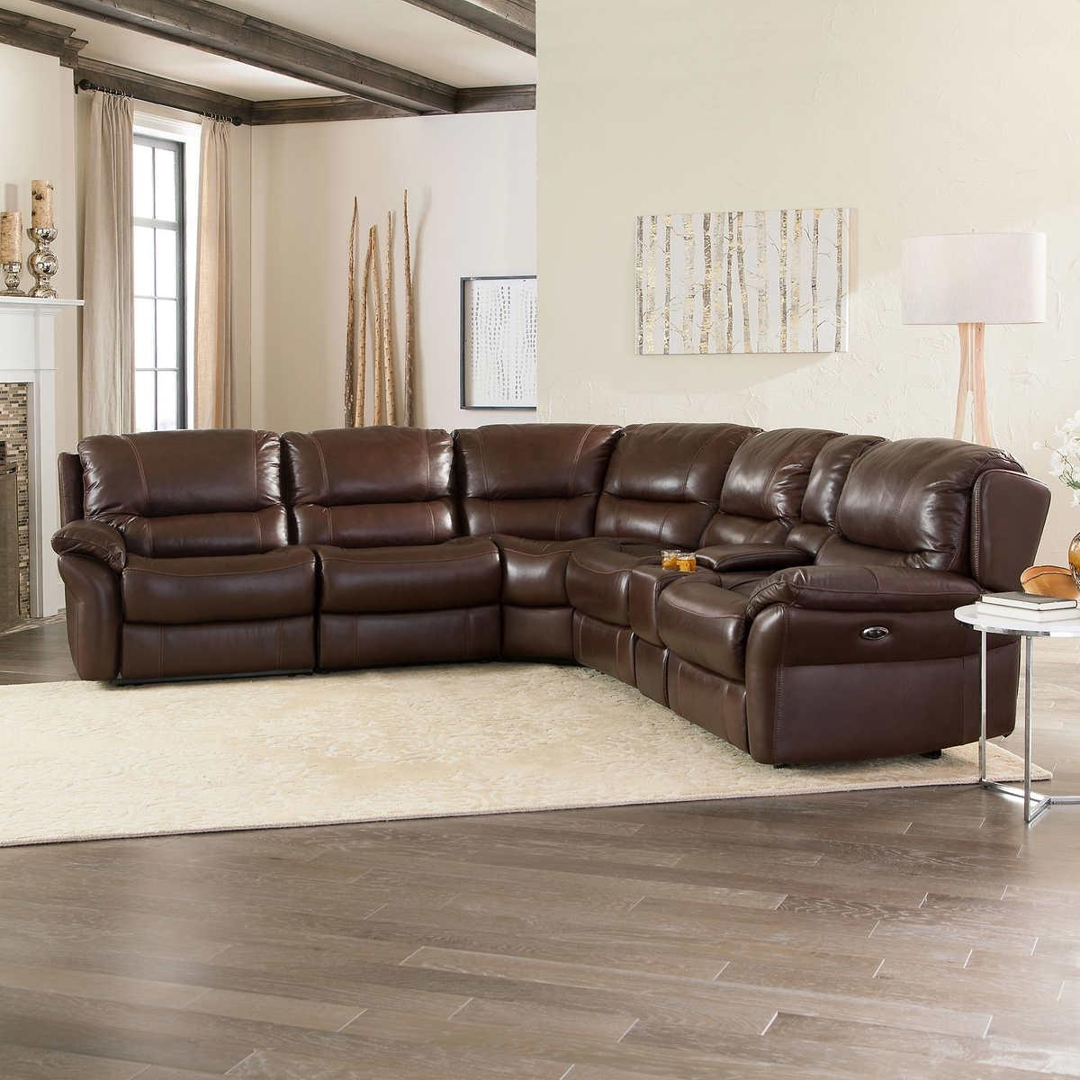Leather Sectional Sofas With Recliners | Demand Sofas Set Pertaining To 6 Piece Leather Sectional Sofa (View 4 of 15)