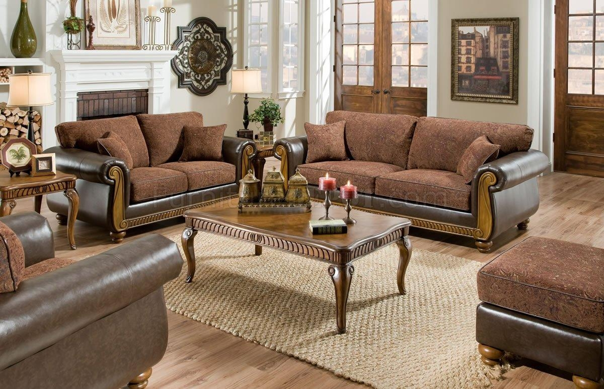 Leather Sofa And Loveseat Combo Intended For Leather And Cloth Sofa (View 5 of 20)