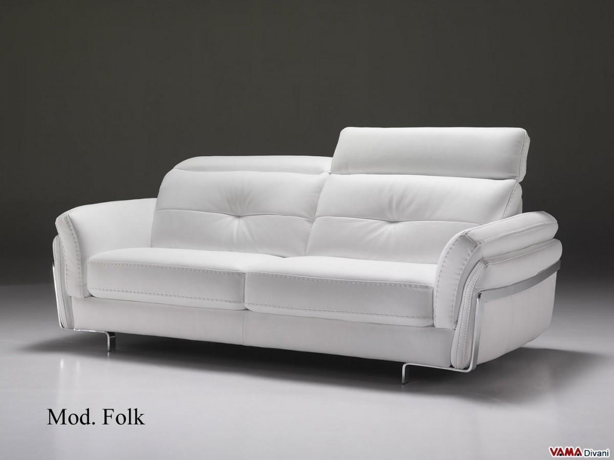 Leather Sofa | With Headrests For Greater Comfort For Modern 3 Seater Sofas (Image 11 of 20)