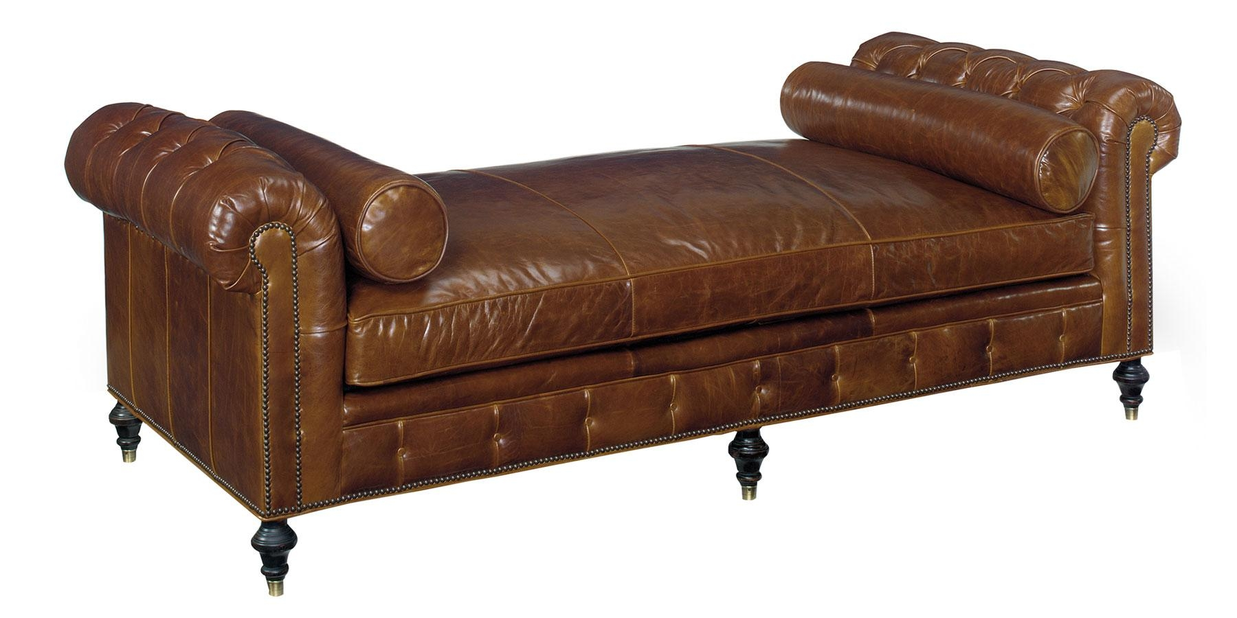 Leather Tufted Chesterfield Daybed With Bench Seat | Club Furniture Within Bench Style Sofas (Image 12 of 20)