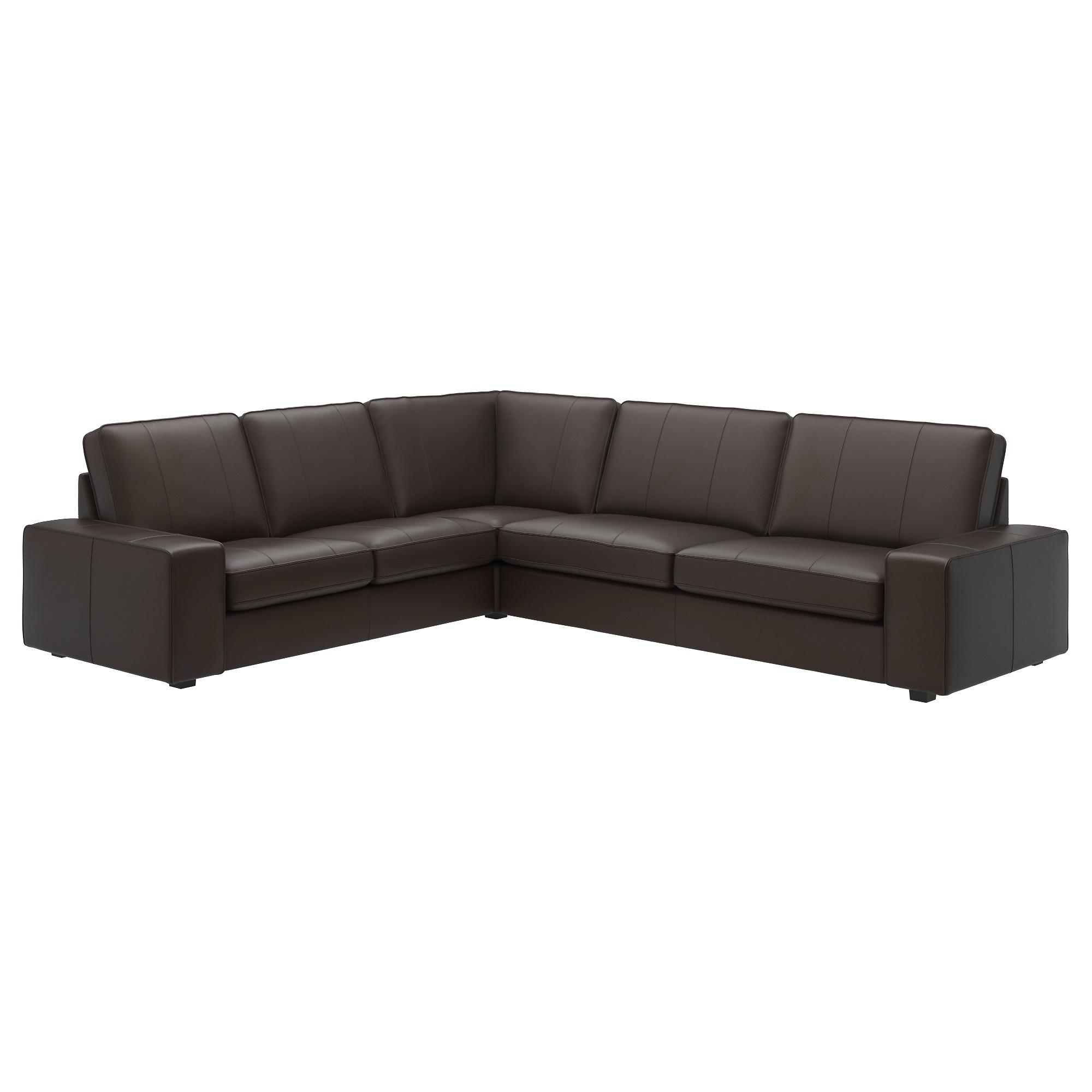 Leather/faux Leather Sectional Sofas – Ikea Throughout Black Leather Corner Sofas (View 14 of 20)