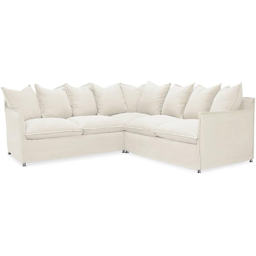 Lee Agave Sectional: Outdoor Slipcovered Modular Outdoor Furniture With Regard To Lee Industries Sectional (Image 9 of 20)