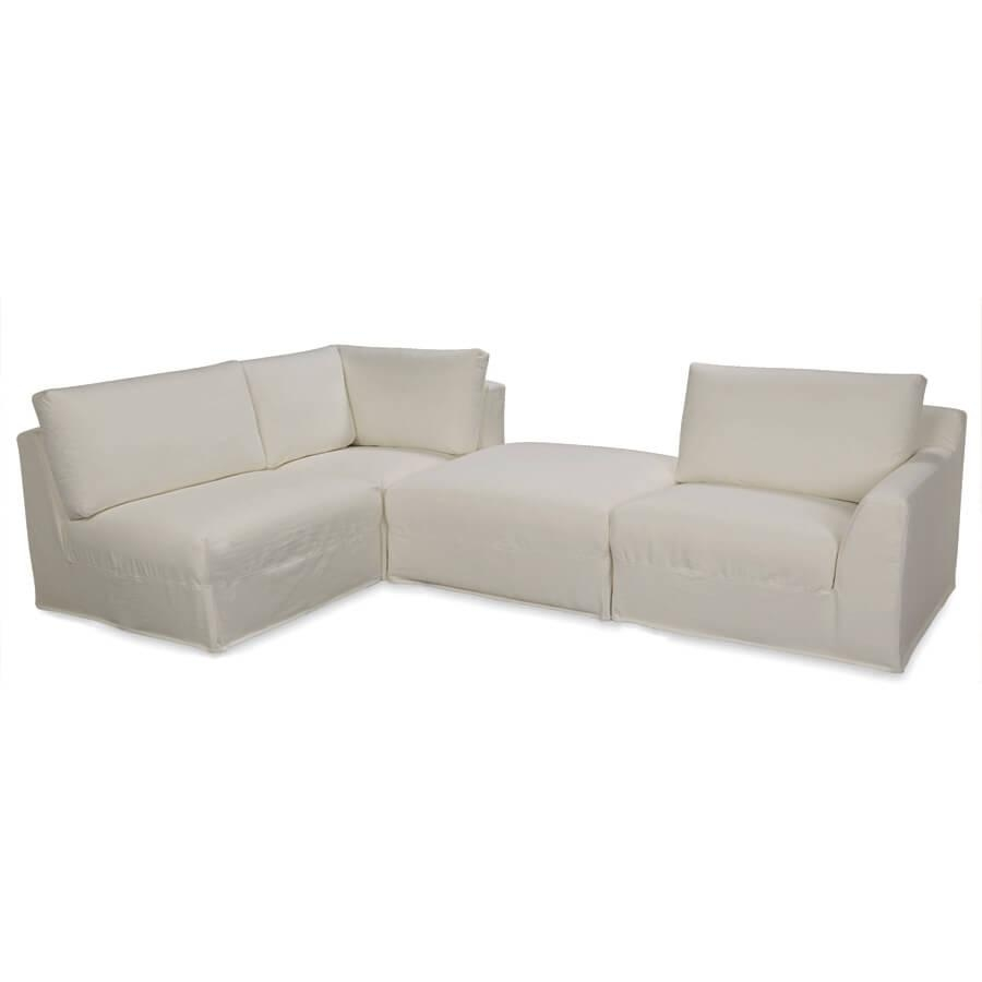 Lee Bermuda 4 Pc Sectional: Indoor Looking Patio Furniture With For Lee Industries Sectional (Image 11 of 20)