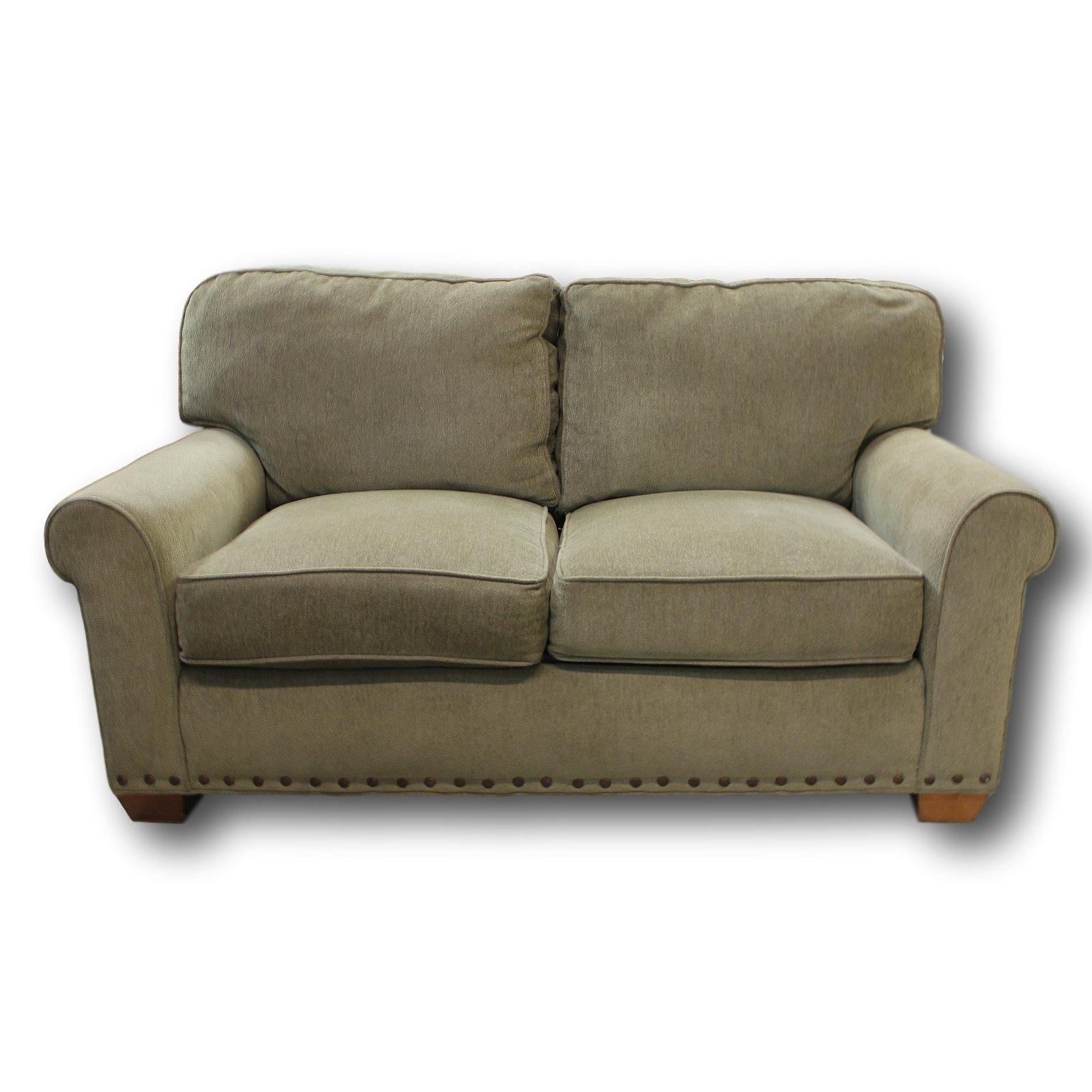 Lee Industries Green Loveseat | Upscale Consignment Intended For Lee Industries Sectional Sofa (Image 14 of 20)