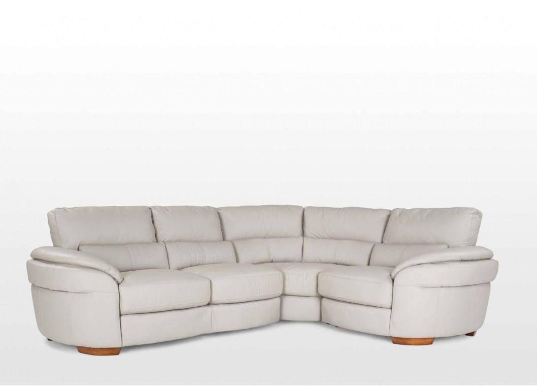Left Arm Grey Leather Corner Sofa – Aspen Throughout Aspen Leather Sofas (View 3 of 20)