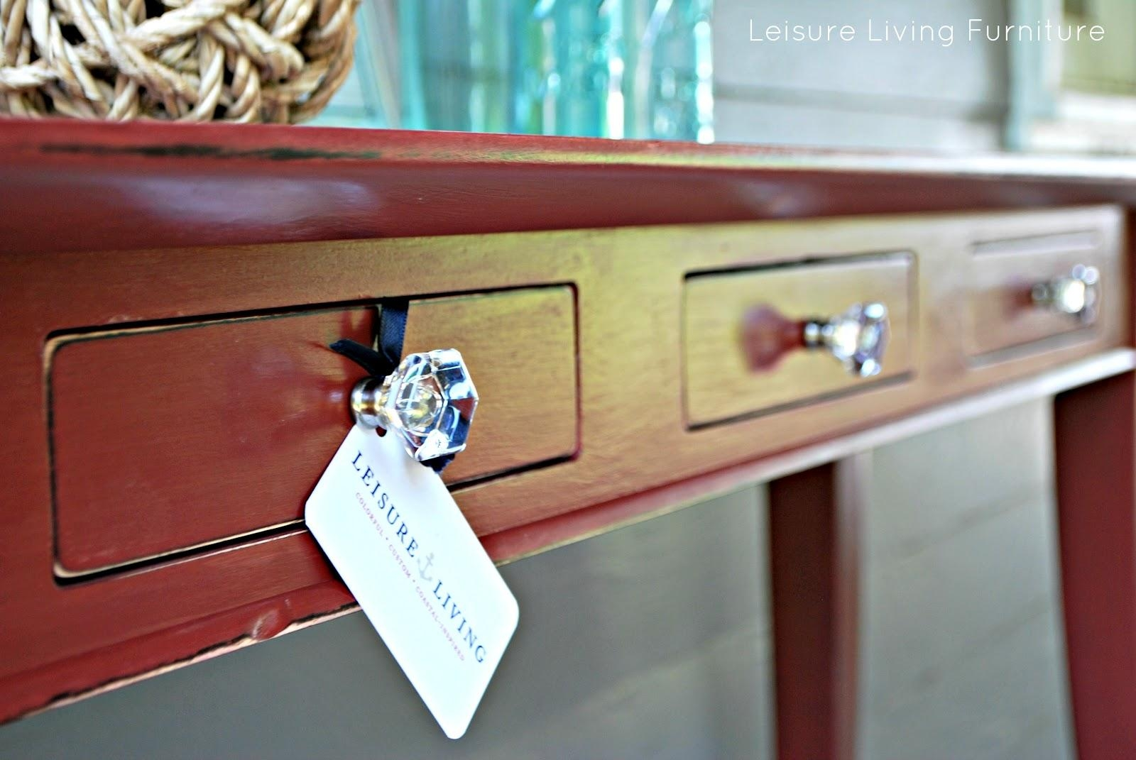 Leisure Living: Primer Red Sofa Table In Red Sofa Tables (Image 6 of 20)
