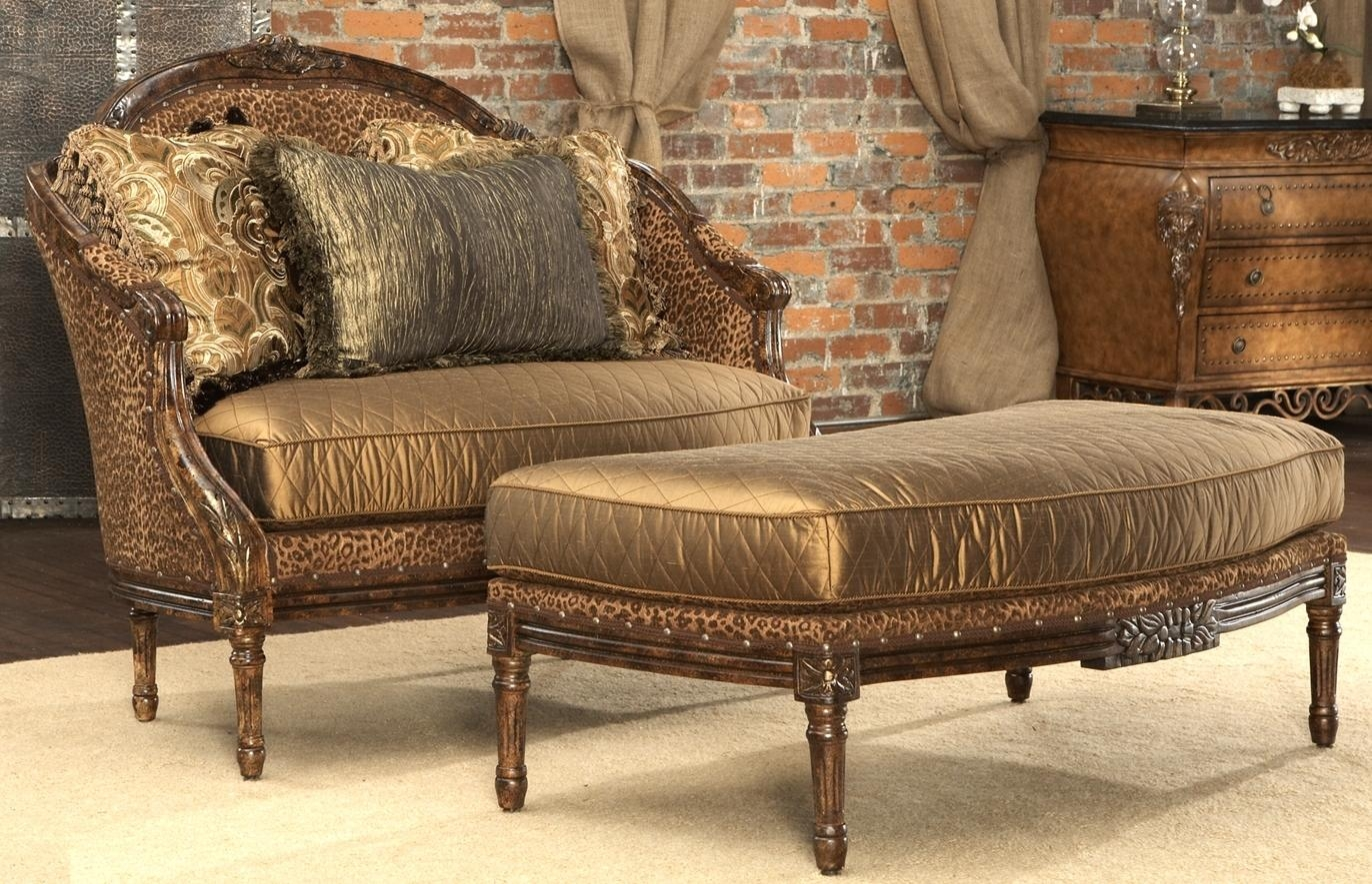Leopard Print Settee (View 7 of 20)