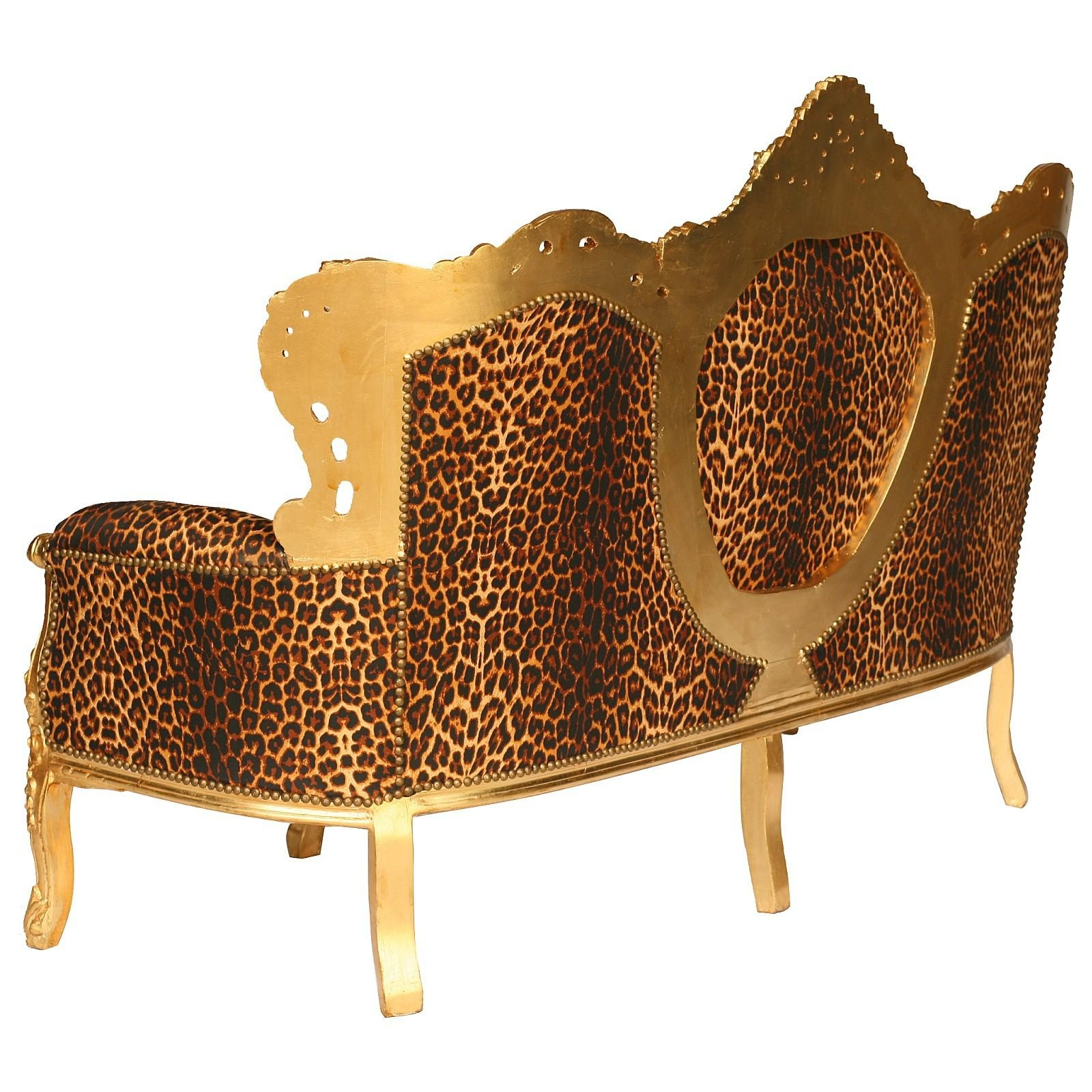Leopard Sofa Animal Print Microsuede Sofa Slipcover Overstock In Animal Print Sofas (View 12 of 20)