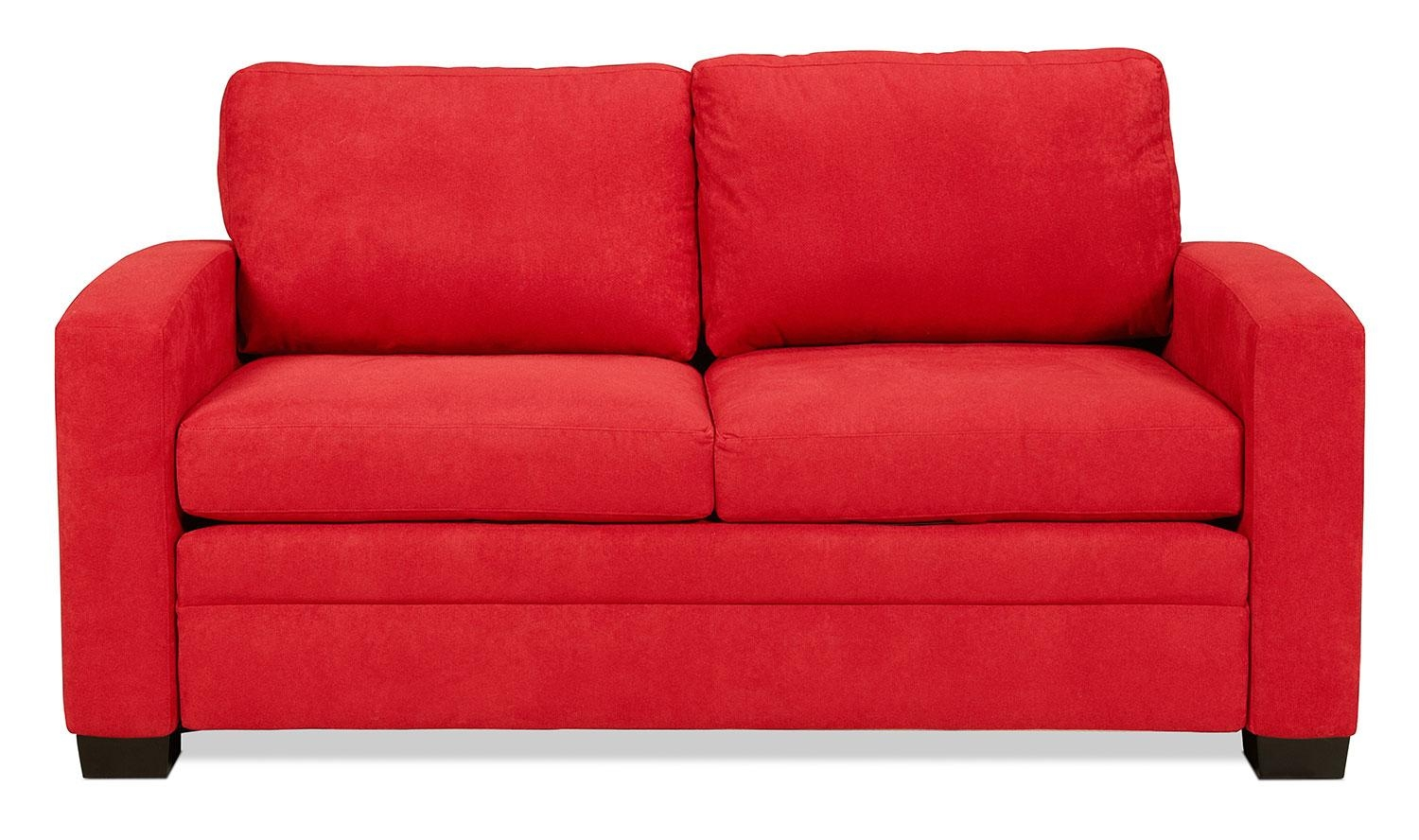 Levin Signature Full Sleeper Sofa – Chili Red | Levin Furniture With Regard To Red Sleeper Sofa (Image 8 of 20)