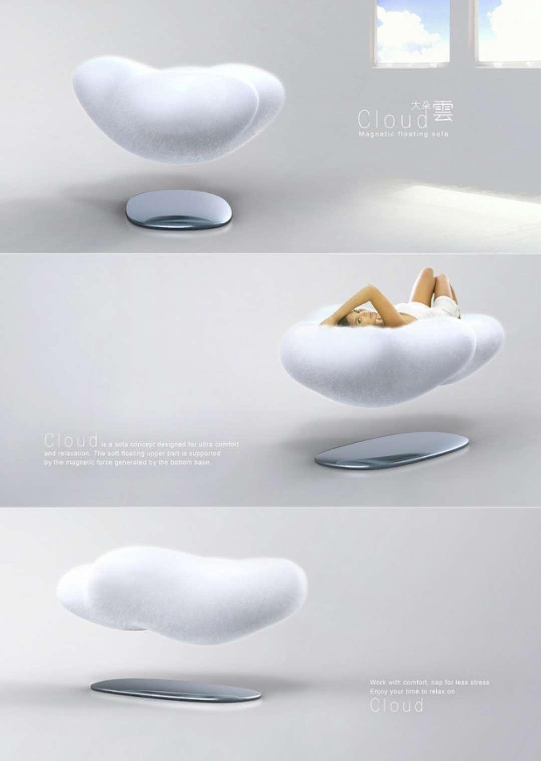 levitating furniture. Levitating Cloud Sofa :mypire In Magnetic Floating Sofas (Image 17 Of 20) Furniture