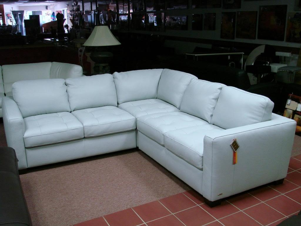 Light Blue Leather Sectional Sofa | Sofa Gallery | Kengire Regarding Blue Leather Sectional Sofas (View 16 of 20)