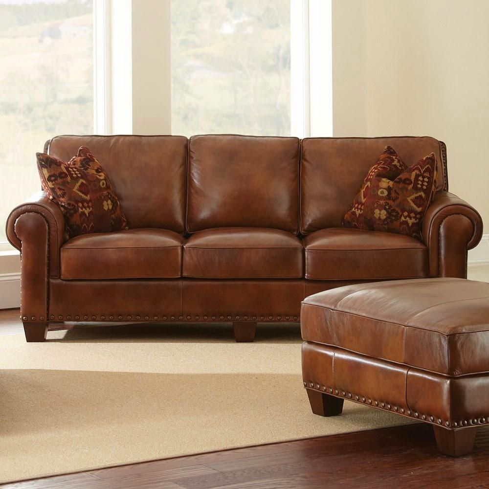 Light Brown Sofa Within Light Tan Leather Sofas (Image 11 of 20)