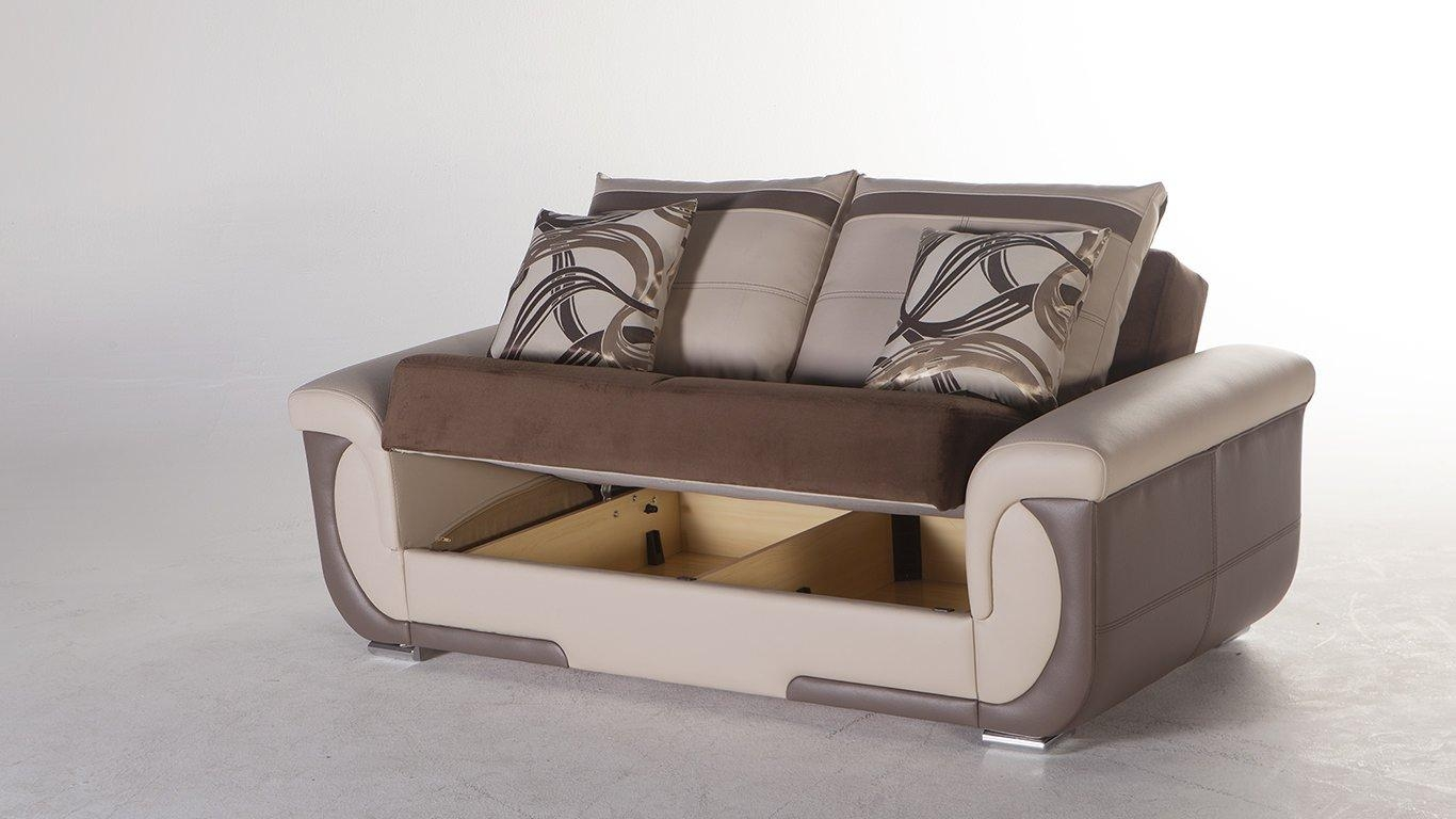 Lima S Best Brown Sofa, Love & Chair Setsunset With Sofa And Chair Set (Image 10 of 20)