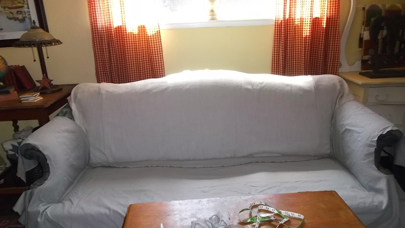 Living A Cottage Life: Camel Back Sofa Slipcover Throughout Camelback Slipcovers (Image 12 of 20)