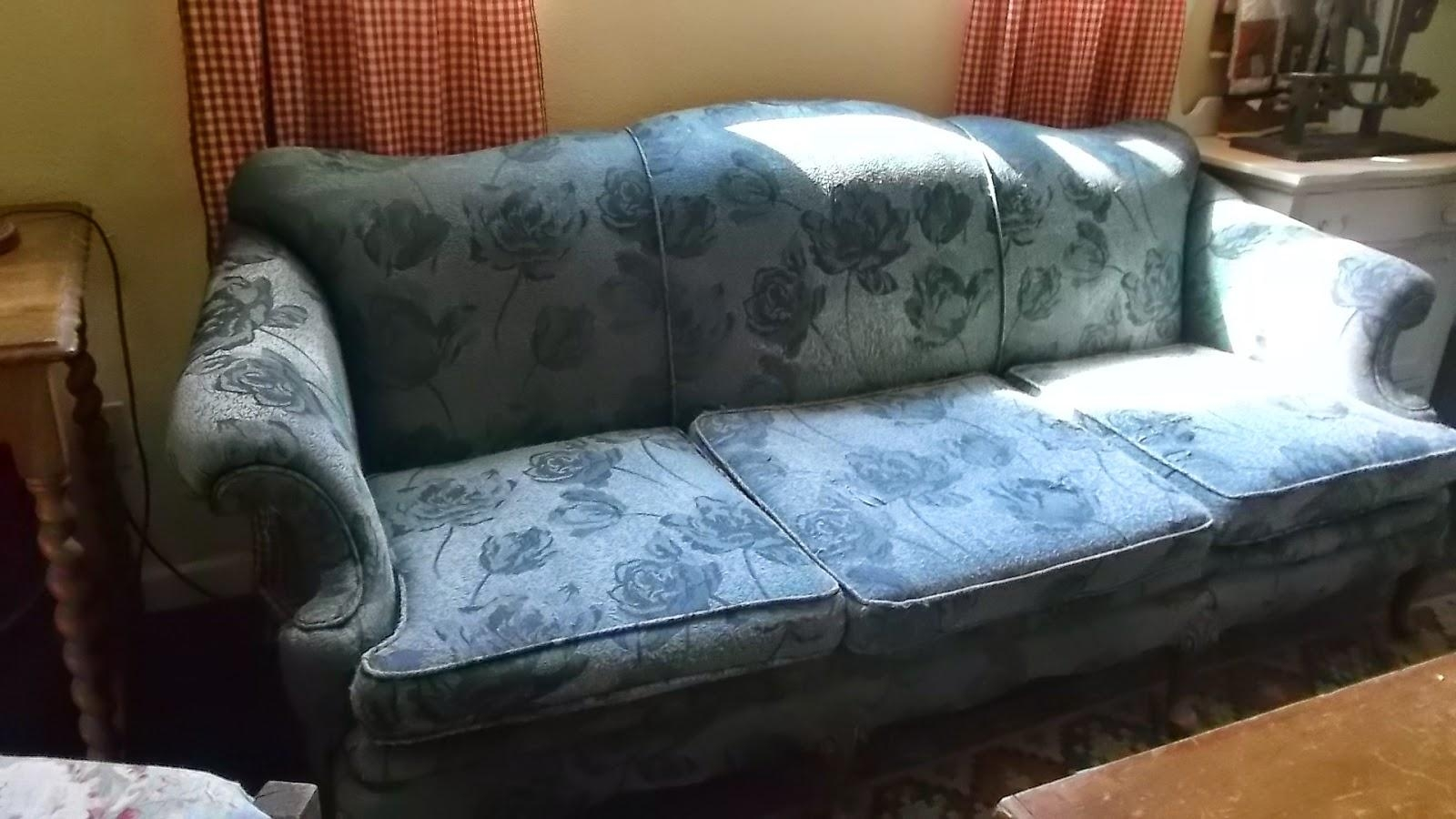 Living A Cottage Life: Camel Back Sofa Slipcover Within Teal Sofa Slipcovers (Image 9 of 20)