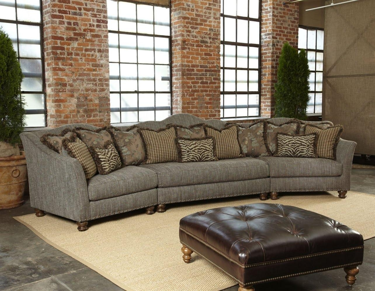 Living Room: Amazing Winsome Curved Sectional For Beautiful Living In High End Leather Sectionals (View 5 of 20)