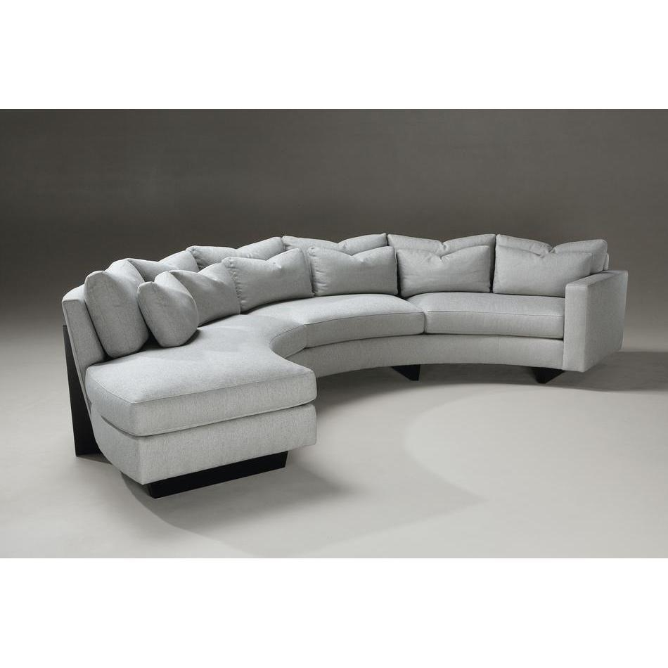 Living Room: Amazing Winsome Curved Sectional For Beautiful Living In Semi Circular Sectional Sofas (Image 9 of 20)