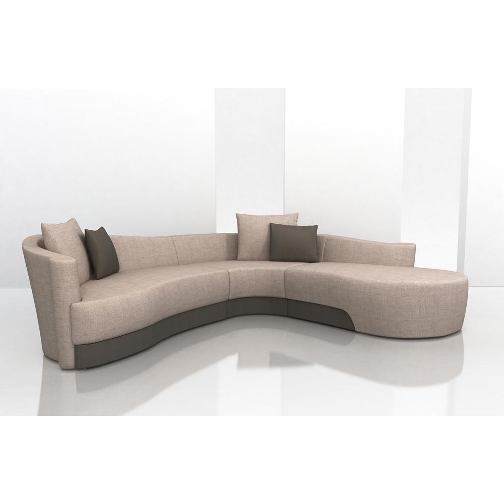 Living Room: Amazing Winsome Curved Sectional For Beautiful Living Inside Circle Sectional (Image 8 of 15)