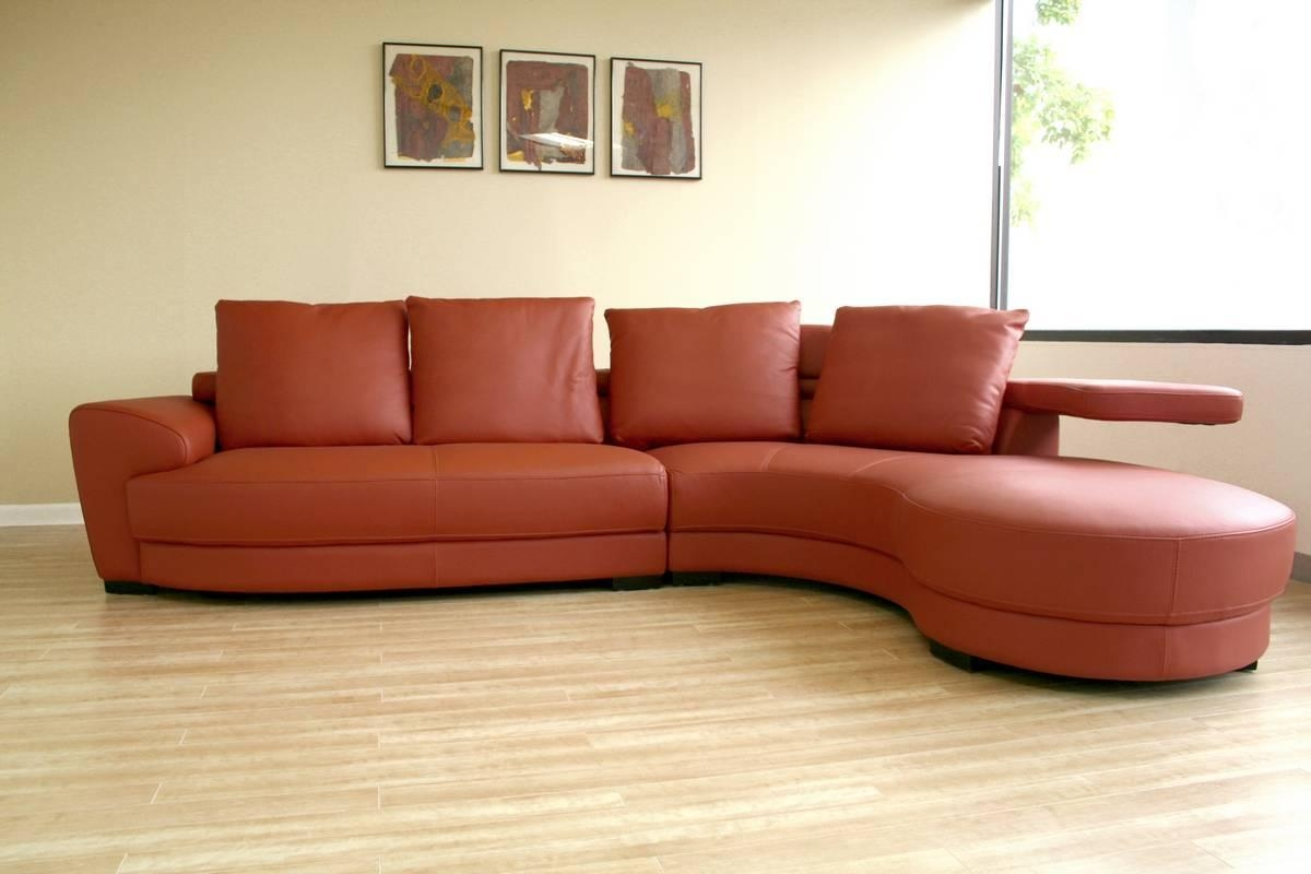 Featured Image of Leather Curved Sectional