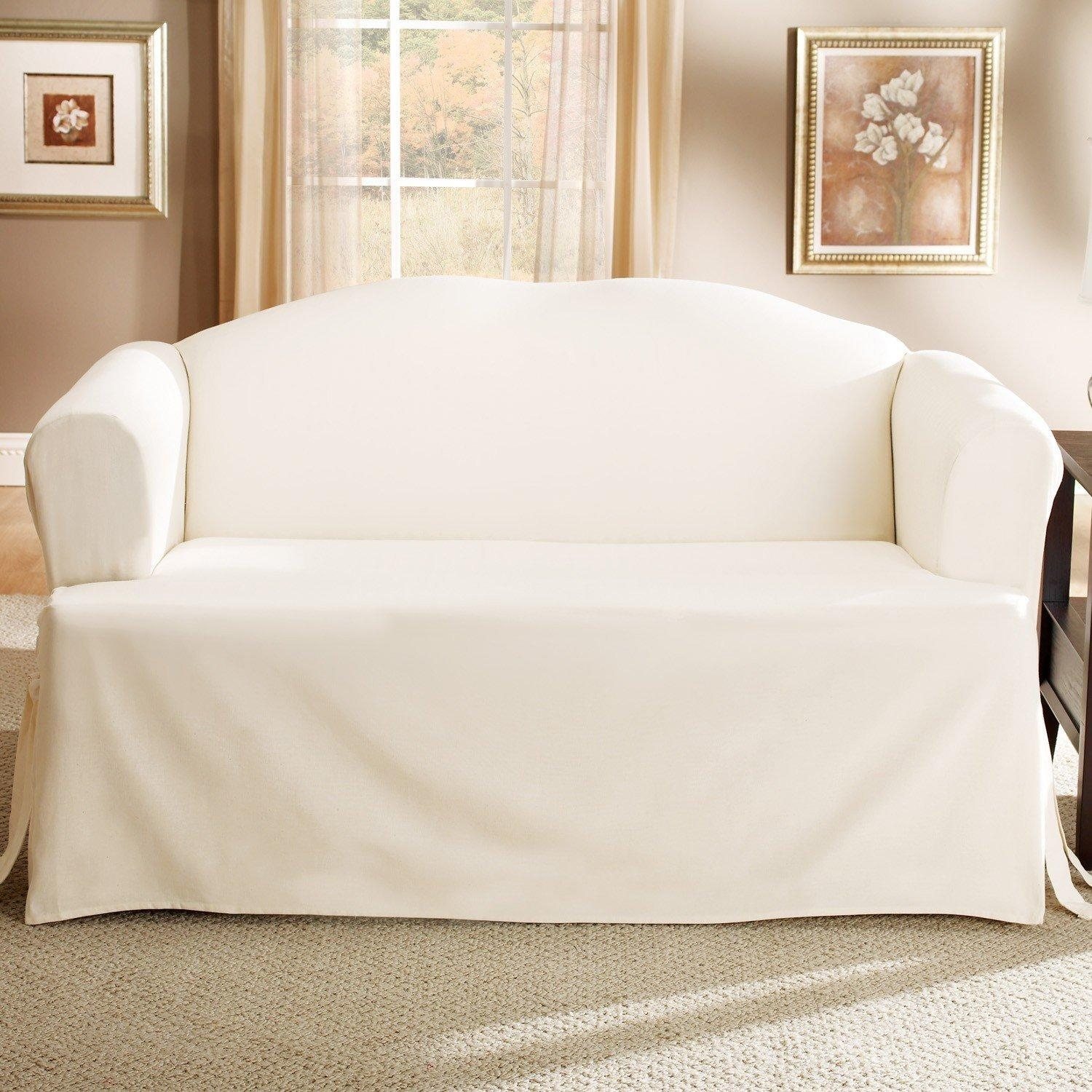 Living Room Armless Chair Slipcovers – Creditrestore With Regard To Armless Couch Slipcovers (Image 13 of 20)