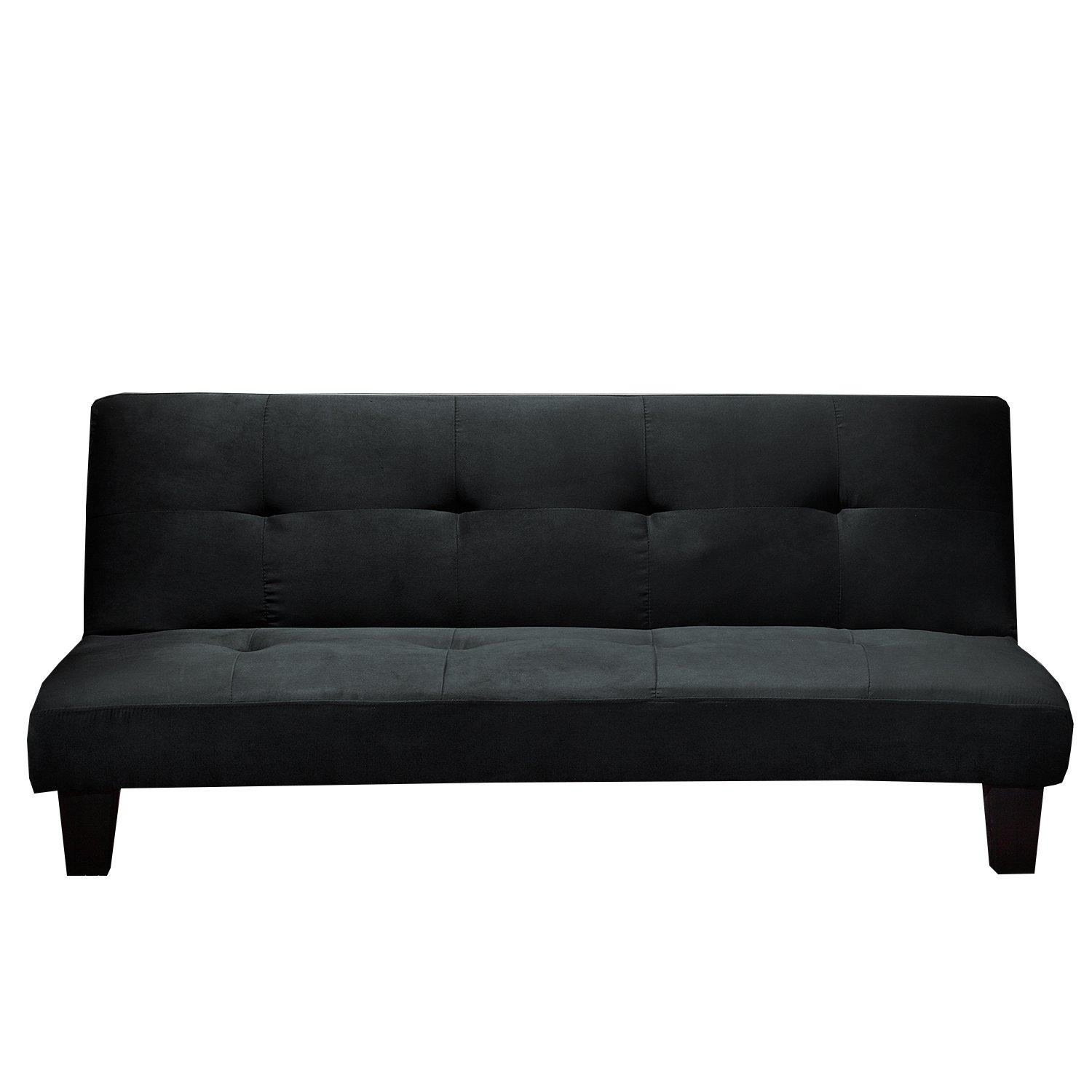 Living Room: Ava Velvet Tufted Sleeper Sofa | Contemporary Futon Pertaining To Ava Velvet Tufted Sleeper Sofas (Image 9 of 20)