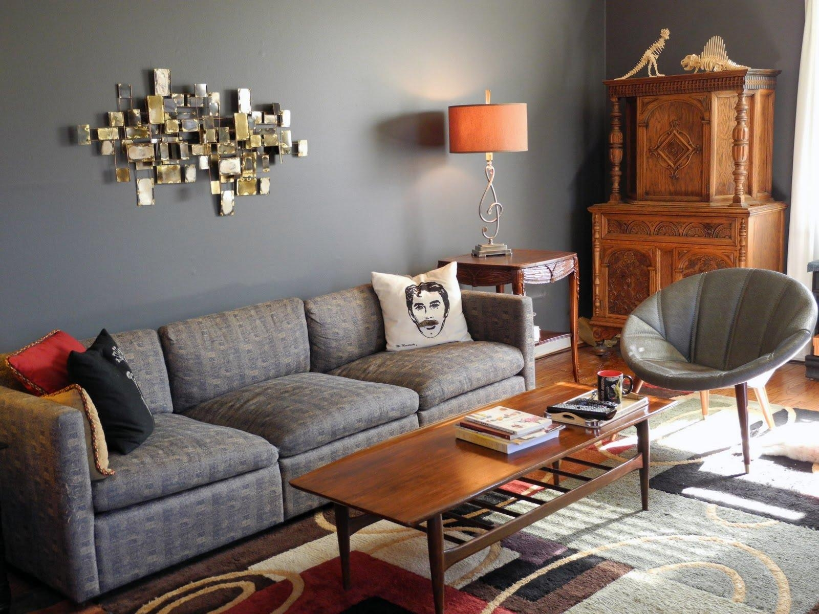 Living Room Blue Gray – Youtube With Regard To Blue Gray Sofas (Image 14 of 20)