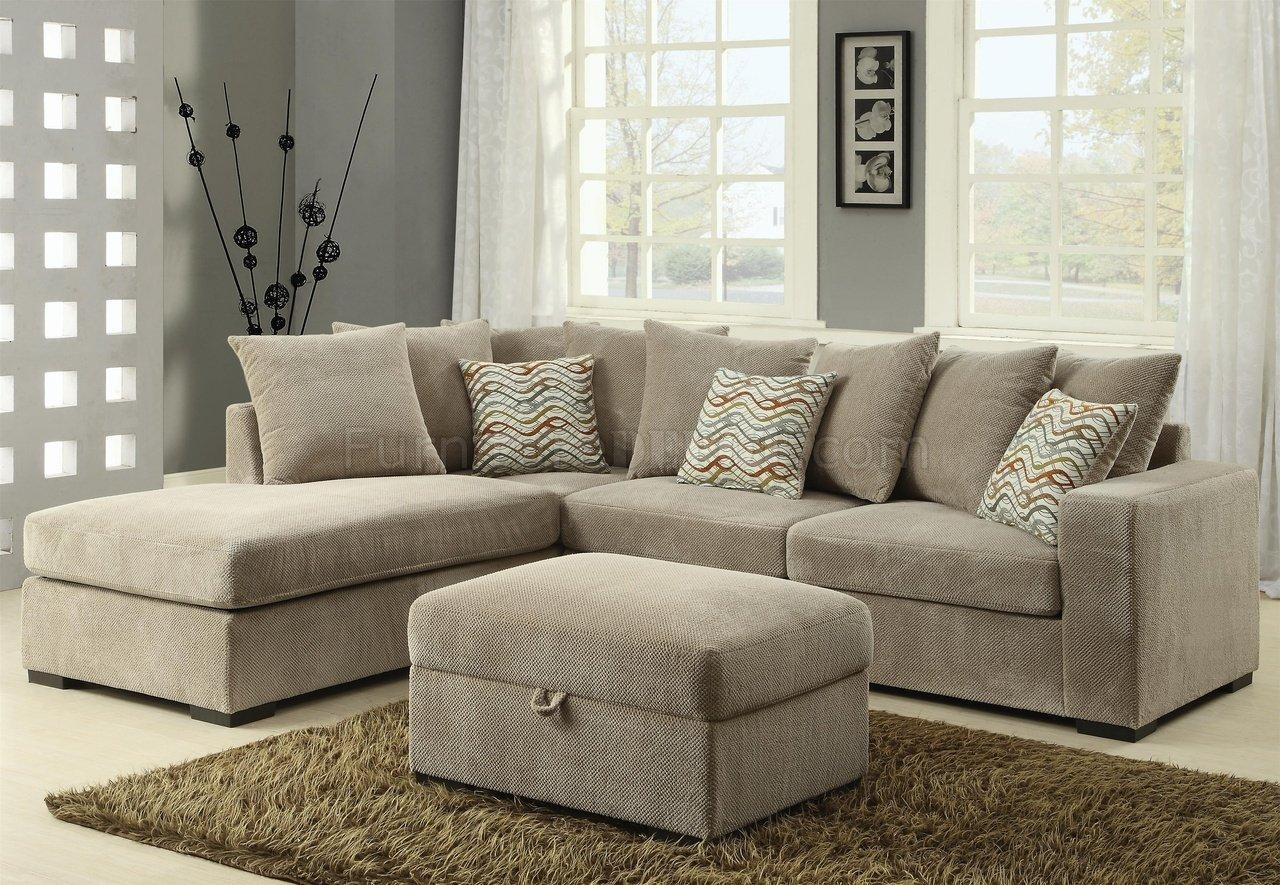 Living Room: Captivating Coaster Sectional Design For Your Lovely Intended For Leather And Suede Sectional (Image 17 of 20)