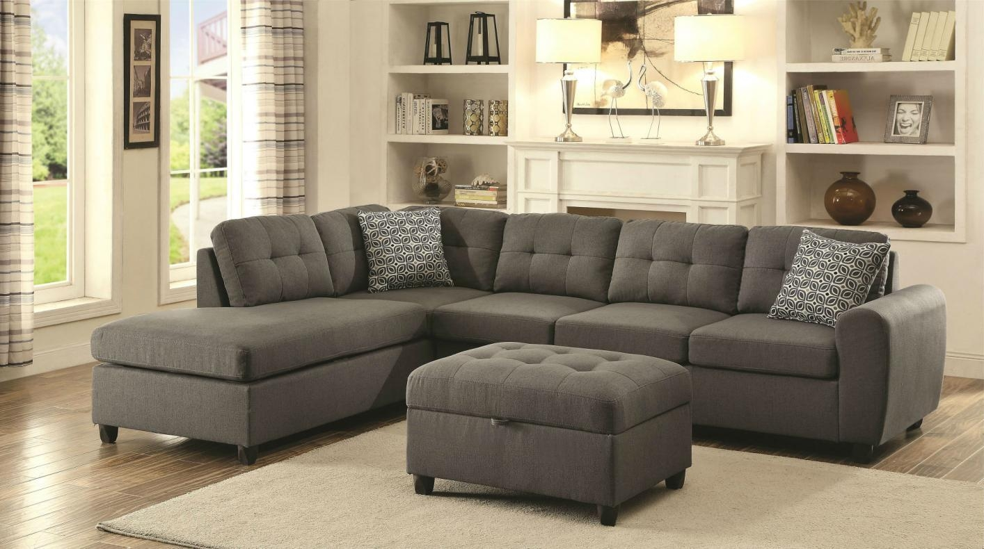 Living Room: Captivating Coaster Sectional Design For Your Lovely Regarding Chenille Sectional Sofas (View 20 of 20)