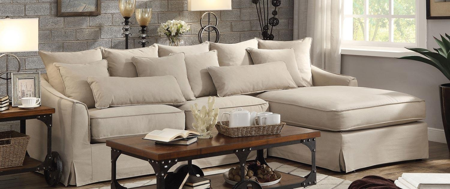 Living Room: Coaster Fine Furniture | Chenille And Leather Inside Coaster Sectional Sofas (Image 15 of 20)