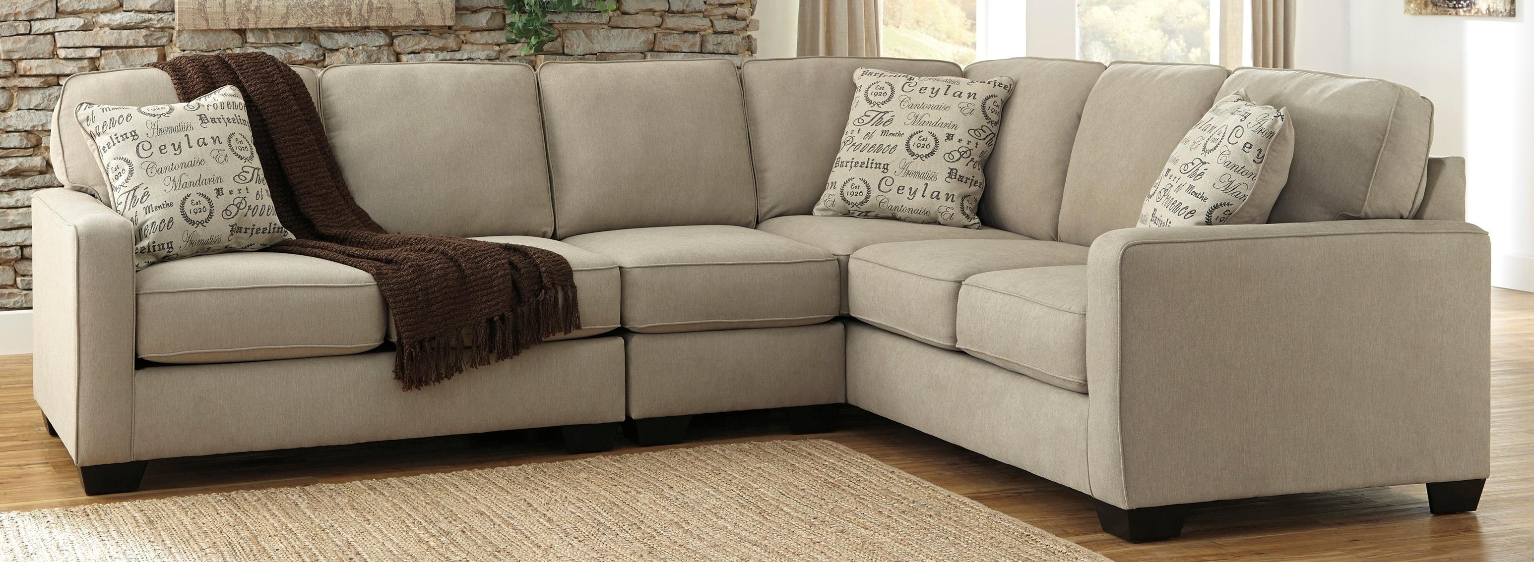 Living Room: Comfortable Ashley Furniture Sectionals For Lovely With Ashley Furniture Brown Corduroy Sectional Sofas (View 19 of 20)