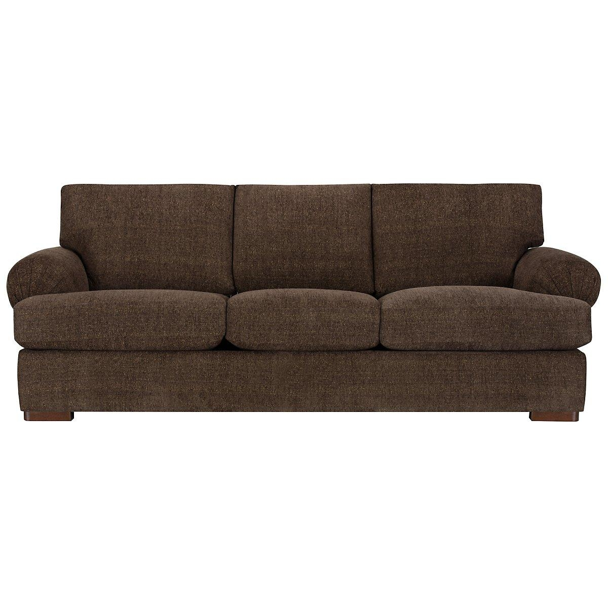 Living Room: Comfortable Brown Microfiber Couch For Elegant Living For Green Microfiber Sofas (Image 15 of 20)