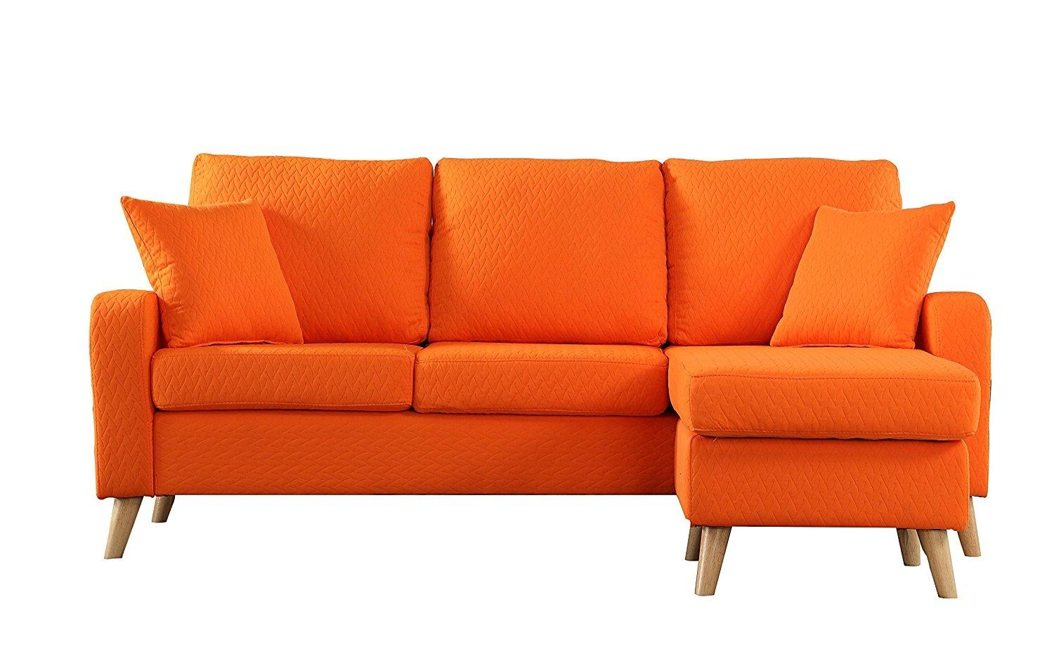 Living Room: Contemporary Mid Century Modern Furniture Legs With For Orange Modern Sofas (Image 11 of 20)