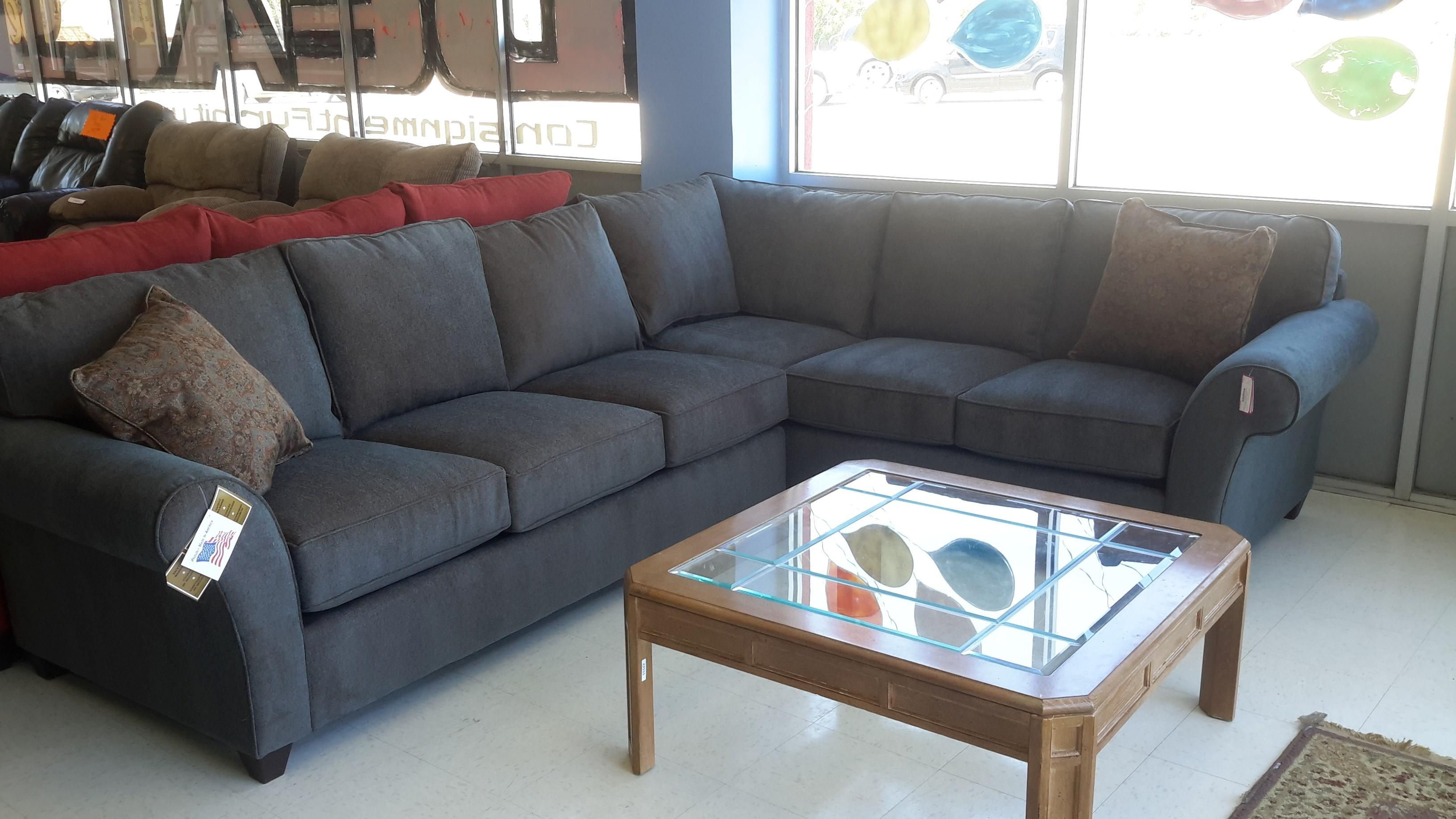 Living Room: Denim Sectional Sofa | Small Sectional Sofa With Pertaining To 3 Piece Sectional Sleeper Sofa (Image 12 of 15)