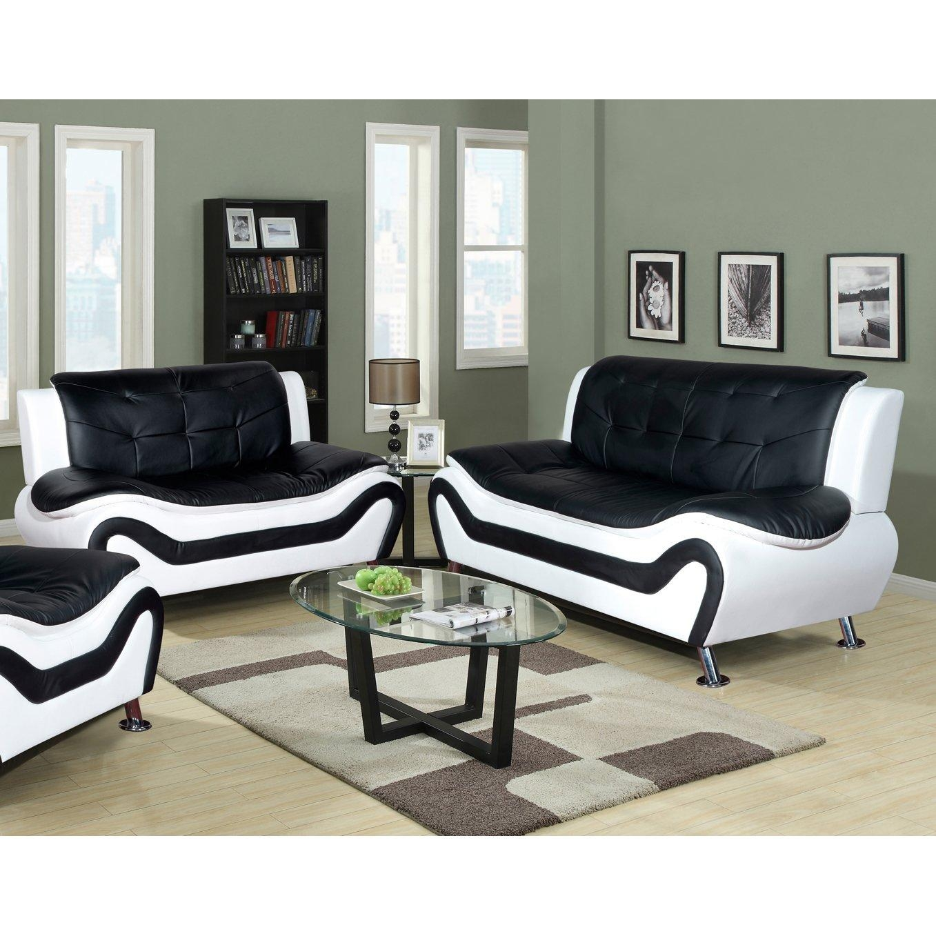 Living Room: Excellent Sofa And Loveseat Sets Discount Sofa And Throughout Black And White Sofas And Loveseats (Image 7 of 20)