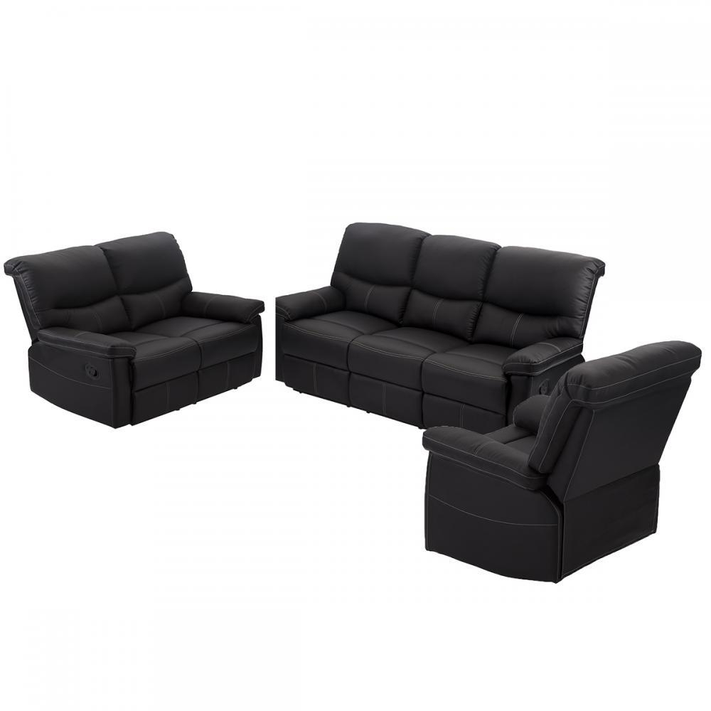 Living Room Furniture – Sets, Modern, Contemporary | Ebay With Regard To Modern Reclining Leather Sofas (Image 10 of 20)