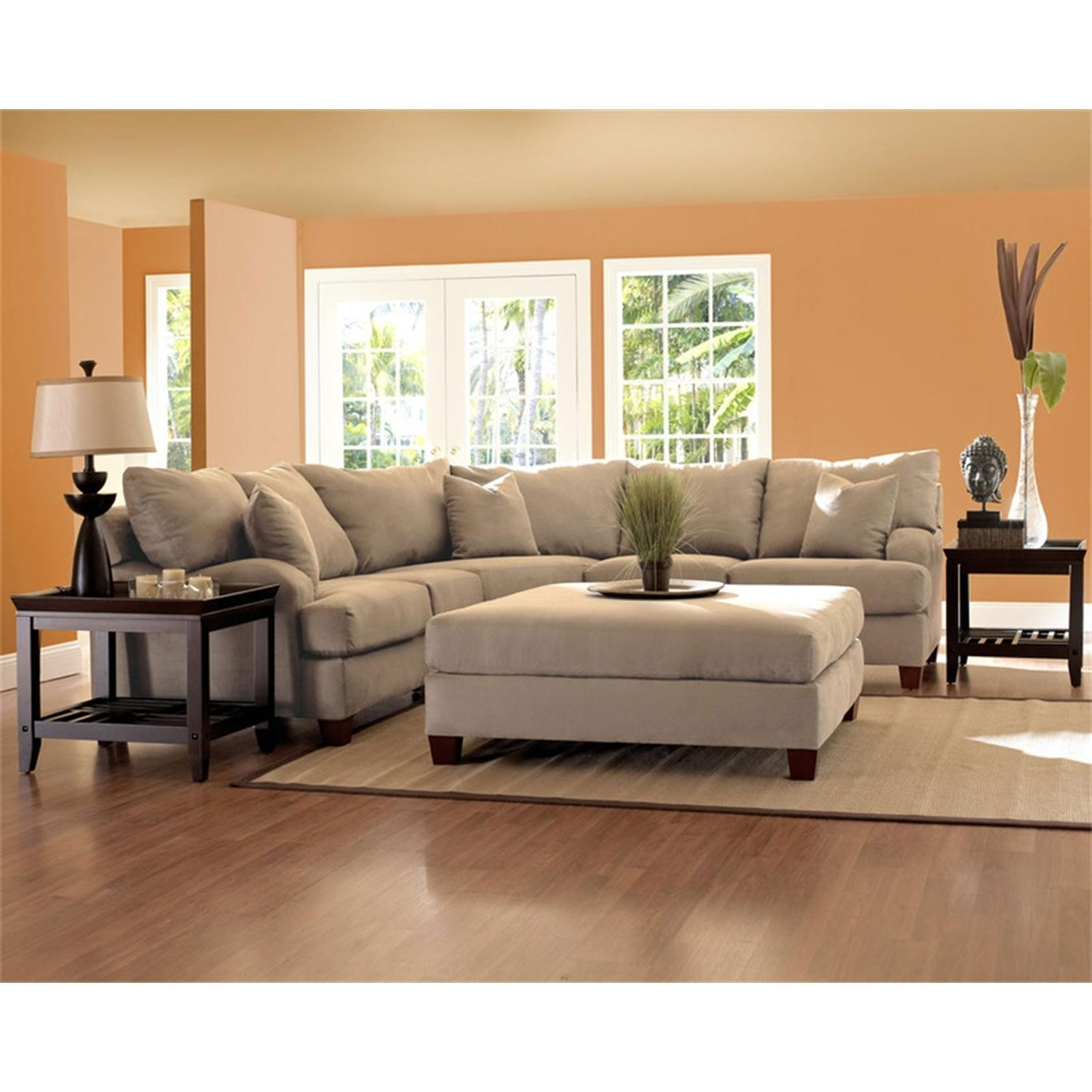 Living Room Furniture Sofas Couches Hom Furniture Camel Colored In Camel Colored Sectional Sofa (View 11 of 15)