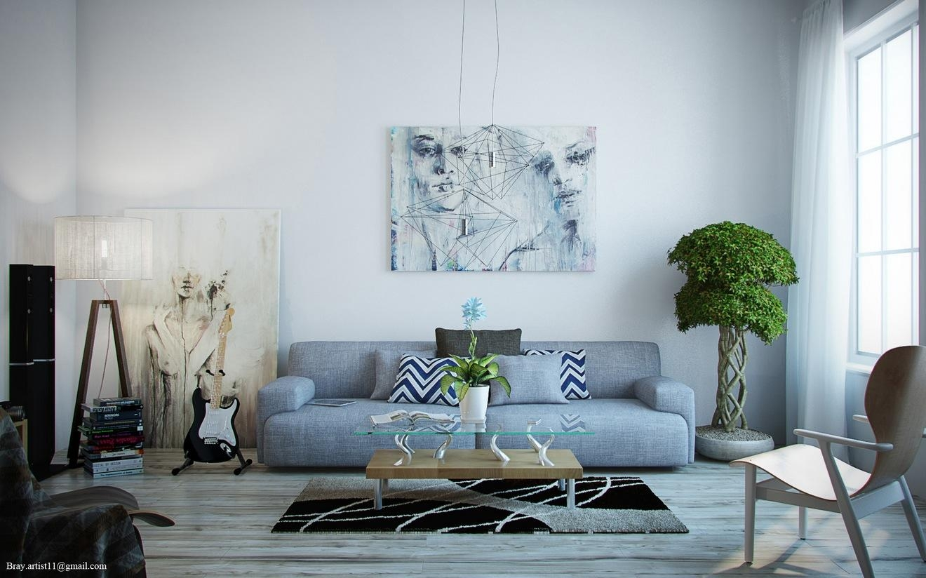 Living Room Ideas With Black And Grey Sofa – Creditrestore Throughout Blue Grey Sofas (Image 16 of 20)
