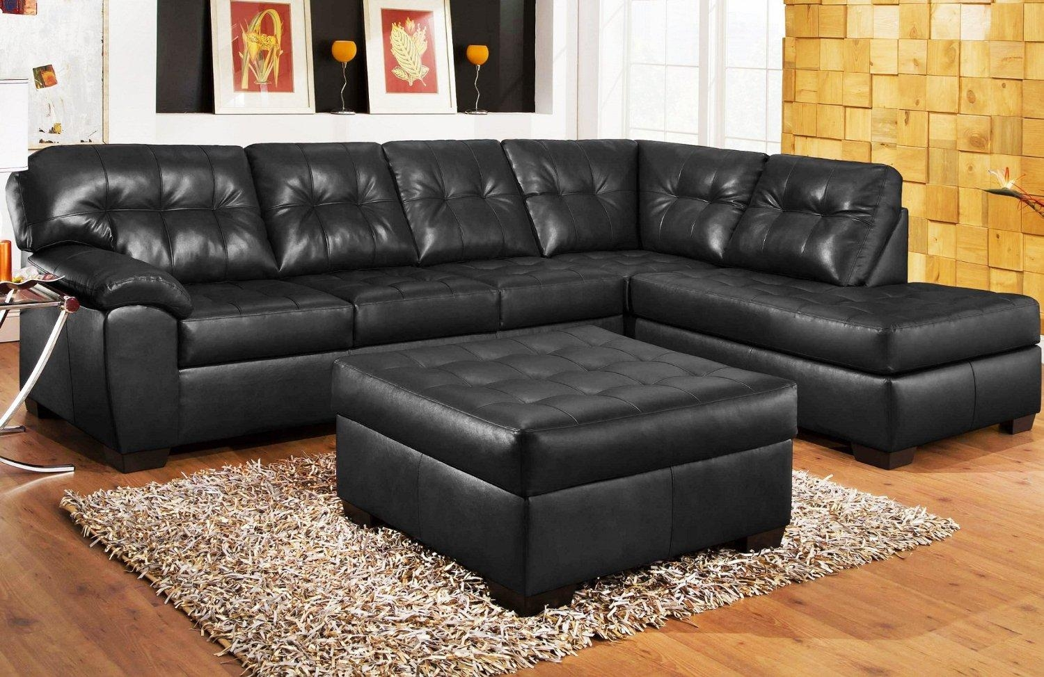Living Room Ideas With Black Leather Sofa Modern Black Leather With Small Black Sofas (Image 6 of 20)