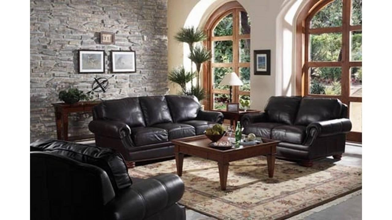 living room decor with black leather sofa 20 ideas of black sofas for living room sofa ideas 27242