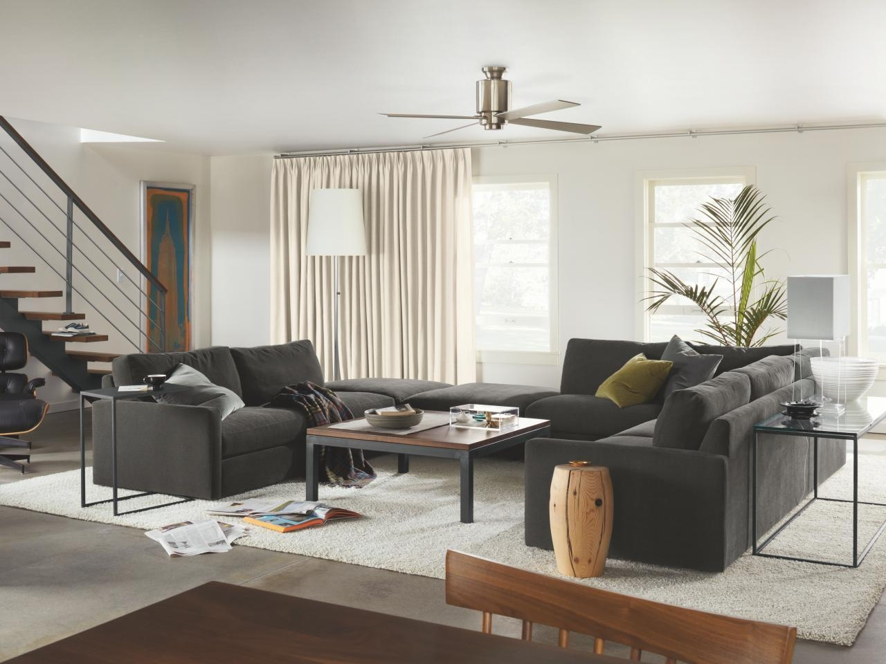 Living Room Layouts And Ideas | Hgtv Within Room And Board Sectional Sofa (View 15 of 20)