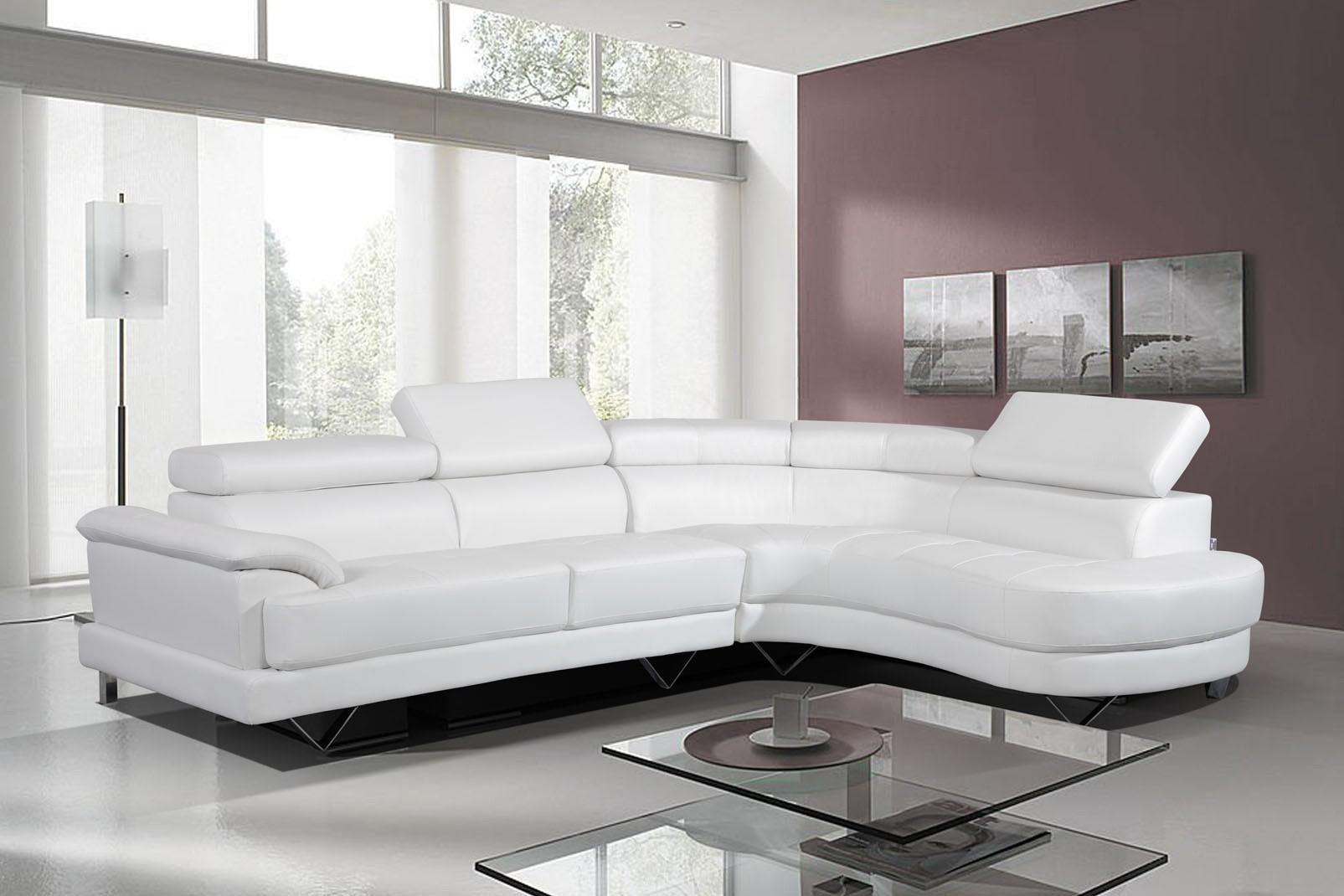 Living Room ~ Leather Couches Modern Sectional Leather Couch White With White Leather Sofas (Image 5 of 20)