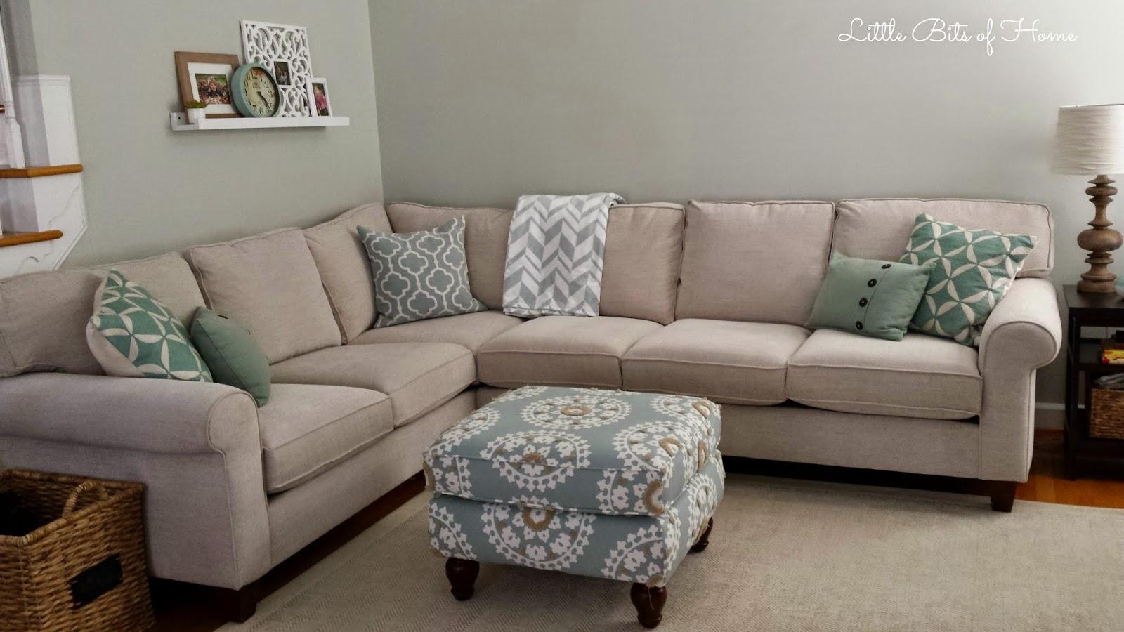 Living Room Makeover: Couch Redo With Regard To Havertys Leather Sectional (Image 15 of 15)