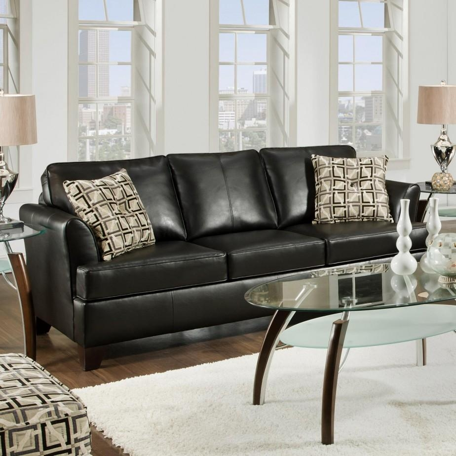 Living Room: Minimalist Picture Of Living Room Decoration Using With Black Sofas Decors (Photo 20 of 20)