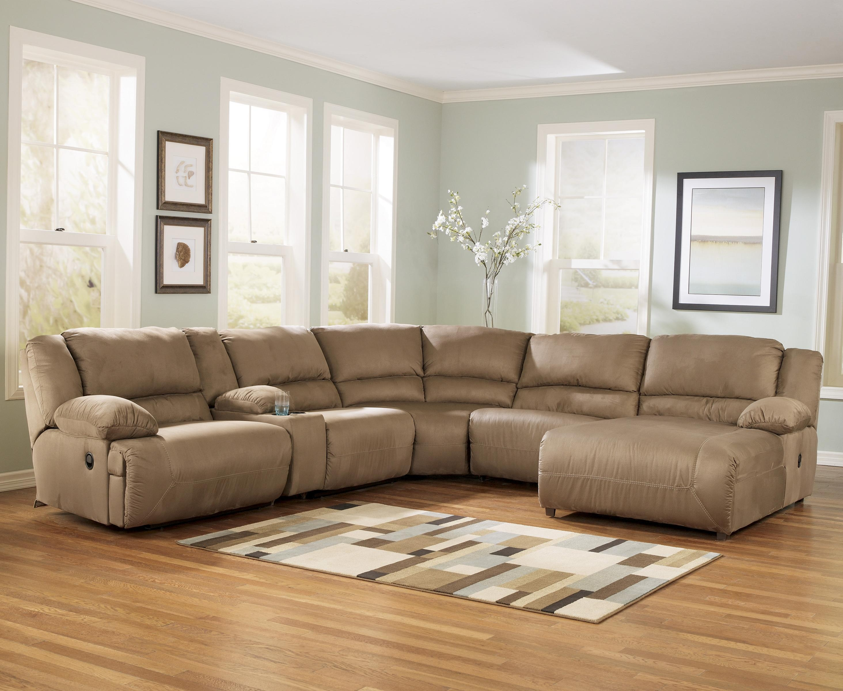 Living Room: Mocha 6 Piece Ashley Furniture Sectionals For Within Ashley Furniture Grenada Sectional (Image 11 of 15)