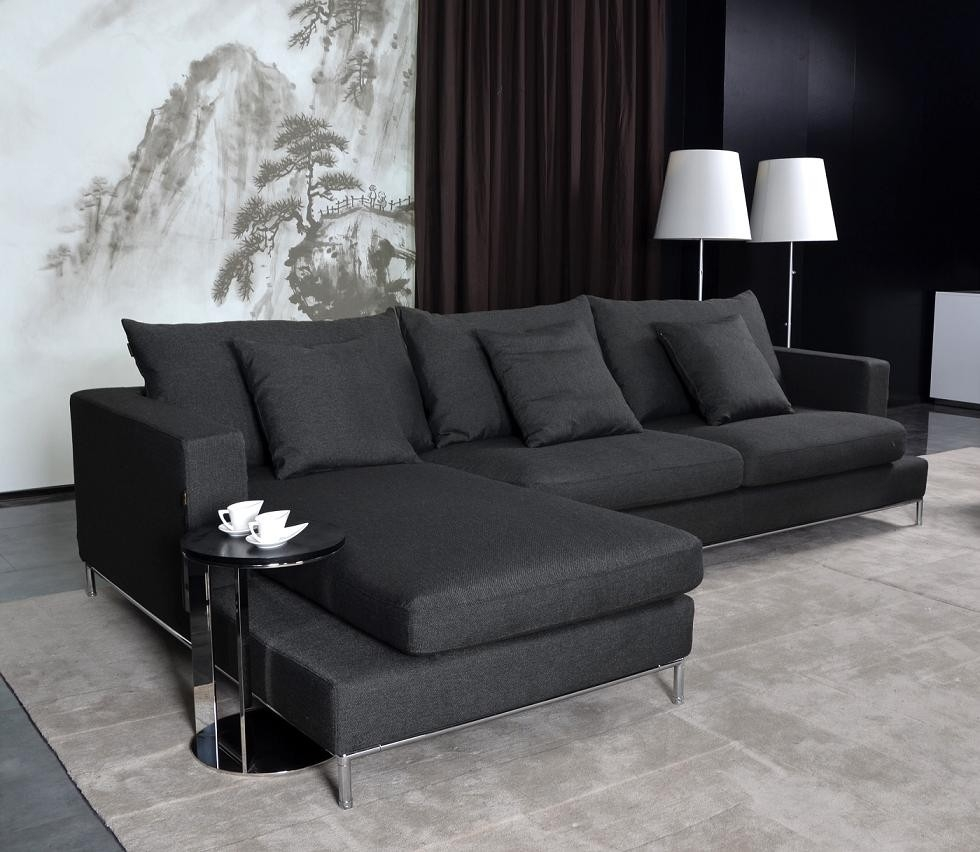Living Room | Modern Furniture | Contemporary Furniture Intended For Black Modern Sectional Sofas (Image 13 of 20)