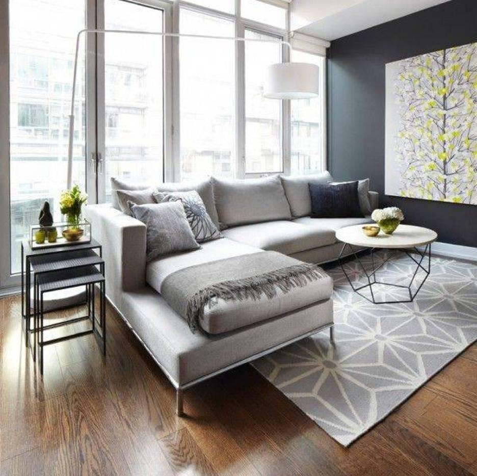 Living Room: Modern Minimalist Living Room Nice Hardwood Floor Within Floor Lamp For Sectional Couch (View 10 of 15)