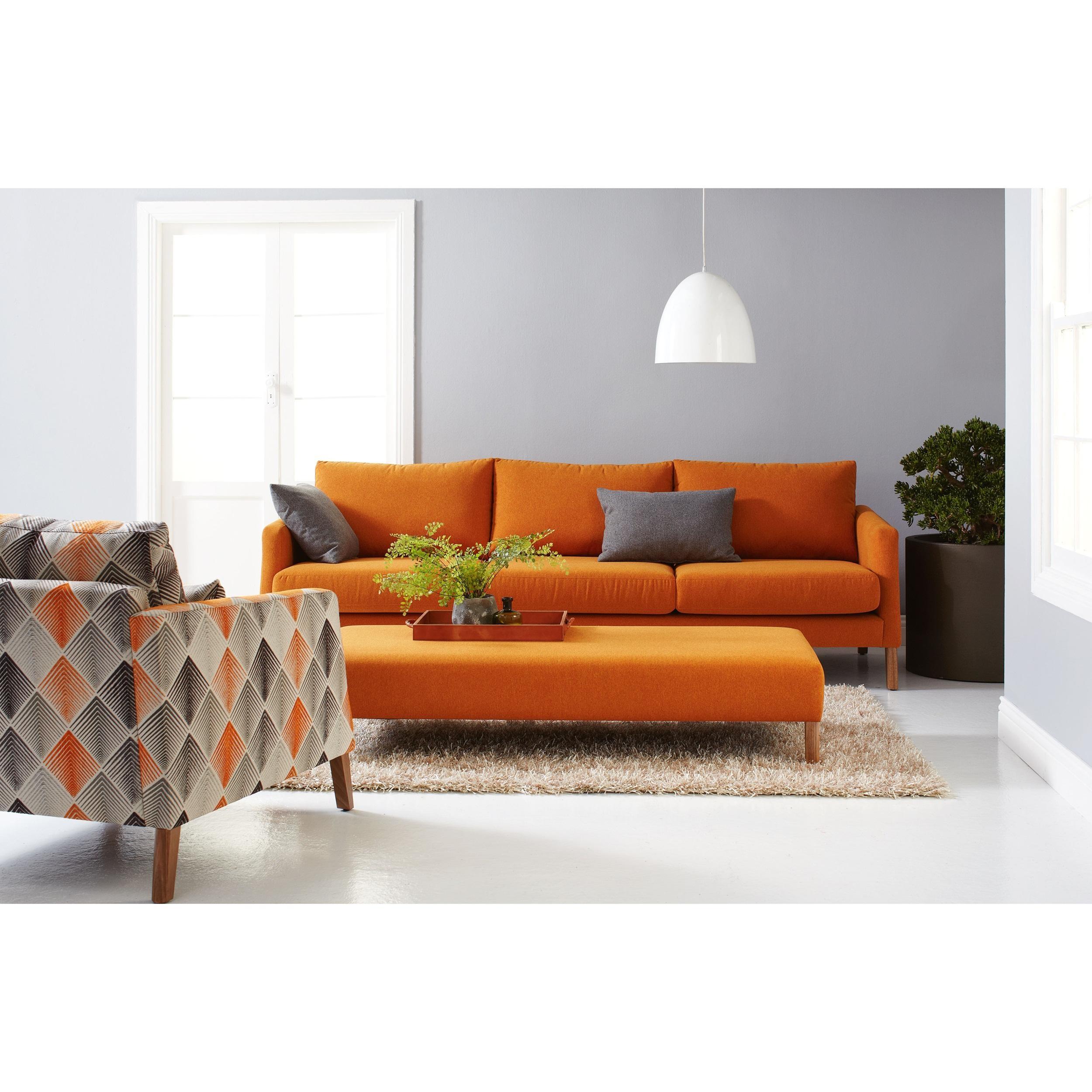 Featured Photo of Orange Sofa Chairs